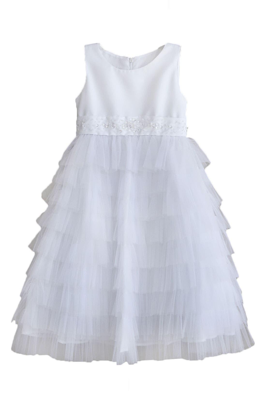 Alternate Image 1 Selected - Isobella & Chloe Tiered Dress (Little Girls & Big Girls)