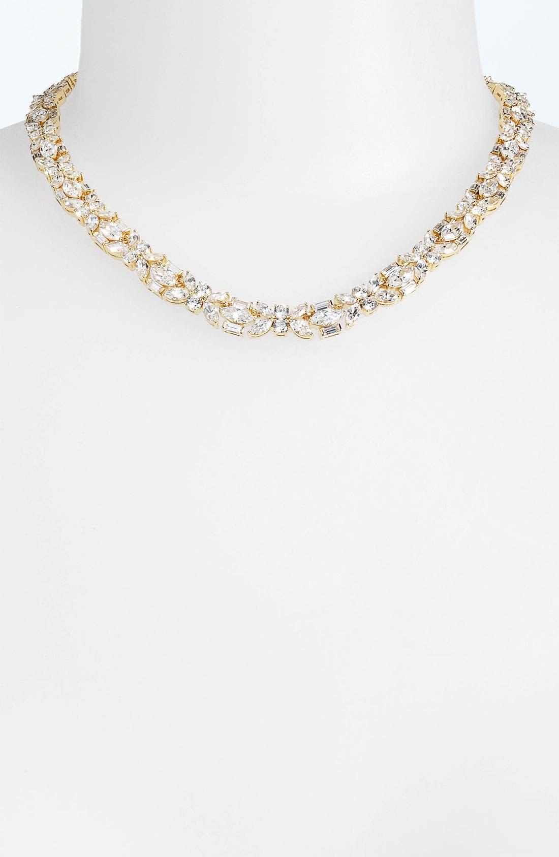 Main Image - Nadri Cubic Zirconia Cluster Collar Necklace (Nordstrom Exclusive)