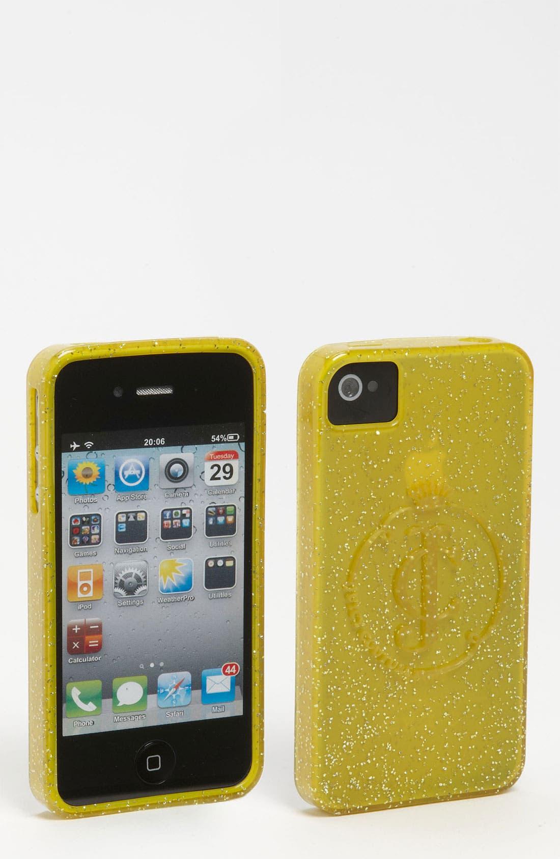 Main Image - Juicy Couture 'Glitter Gelli' iPhone 4 & 4S Case