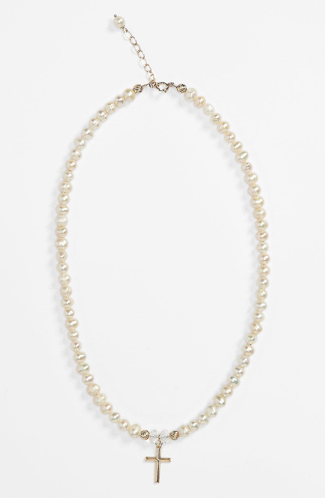 Main Image - Abela Designs Freshwater Pearl Necklace (Girls)