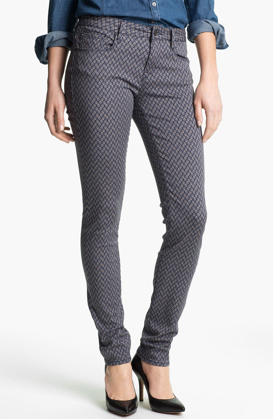 Main Image - Mavi Jeans 'Alexa' Geometric Print Skinny Jeans (Online Exclusive)