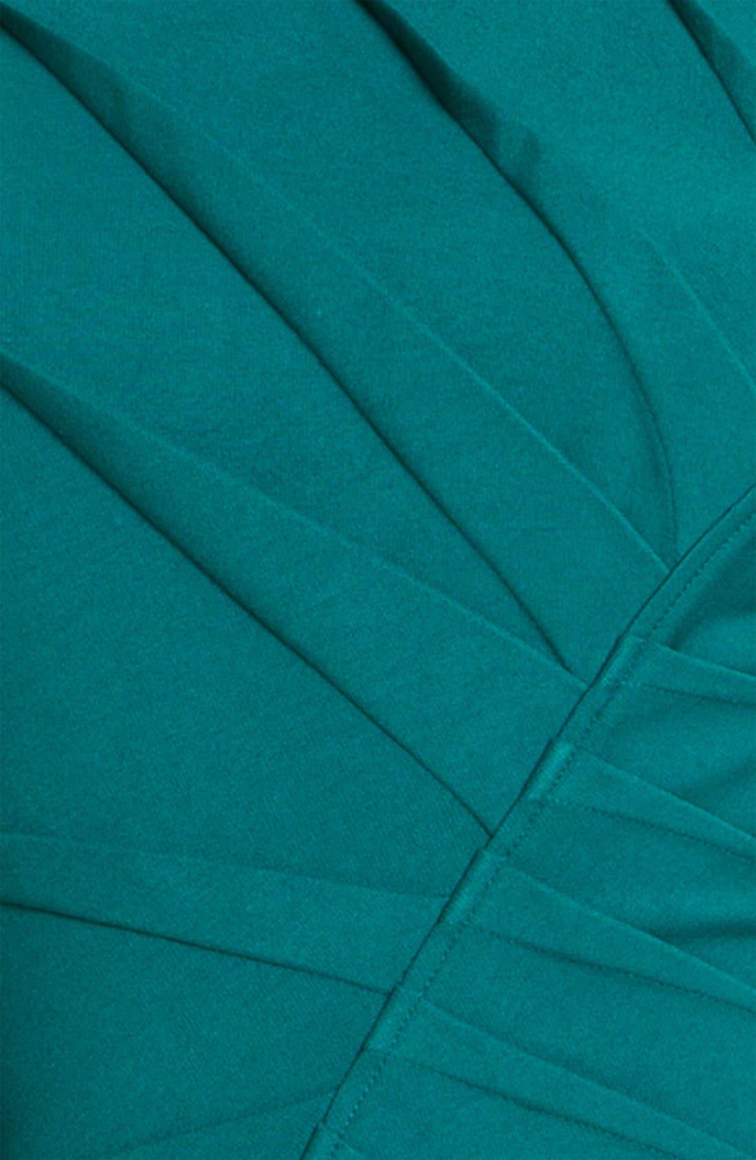 Alternate Image 3  - Adrianna Papell Inverted Pleat Ponte Sheath Dress (Petite)