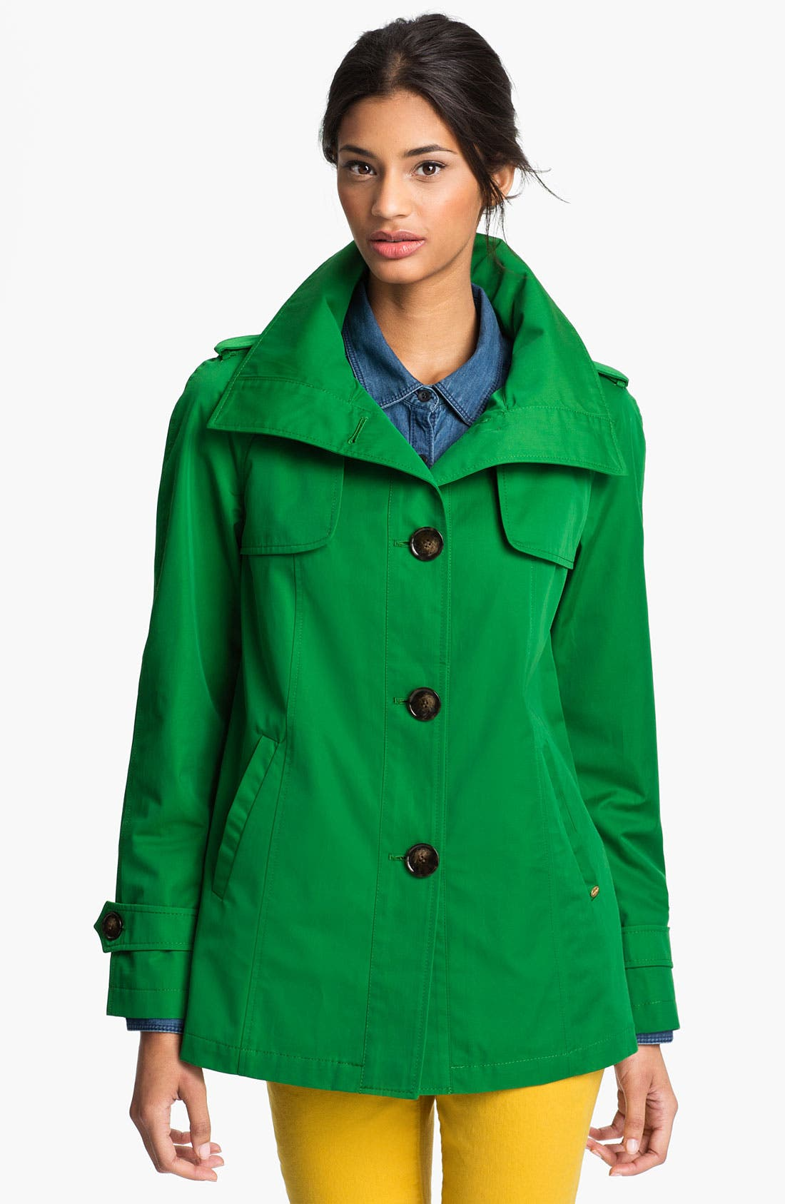 Alternate Image 1 Selected - Ellen Tracy Stand Collar A-Line Jacket (Nordstrom Exclusive)