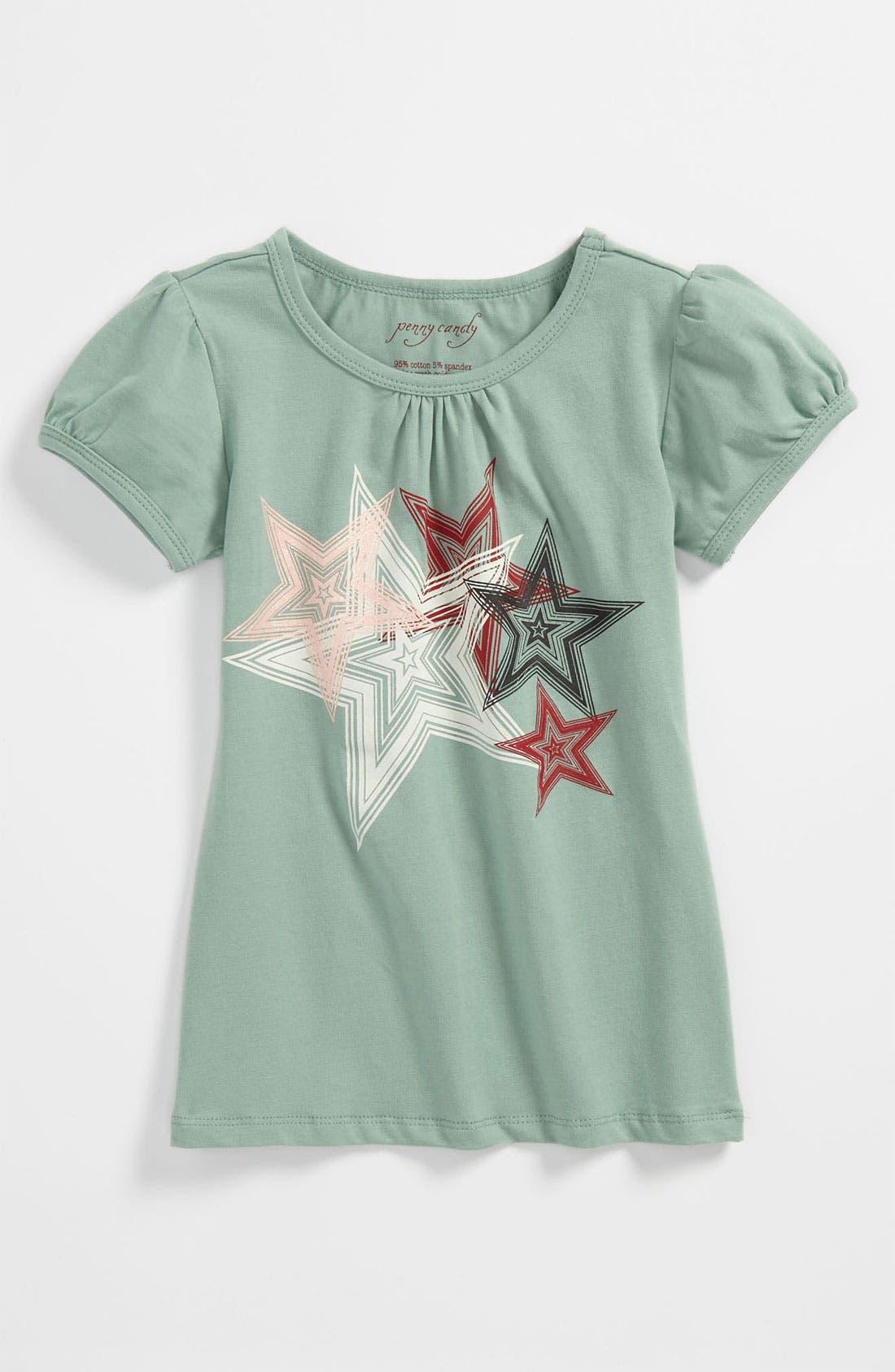 'Jane' Tee,                         Main,                         color, Granite Green/ Star