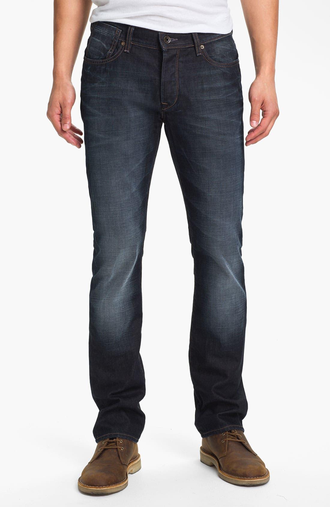 Main Image - John Varvatos Star USA 'Fisher' Straight Leg Jeans (Storm)