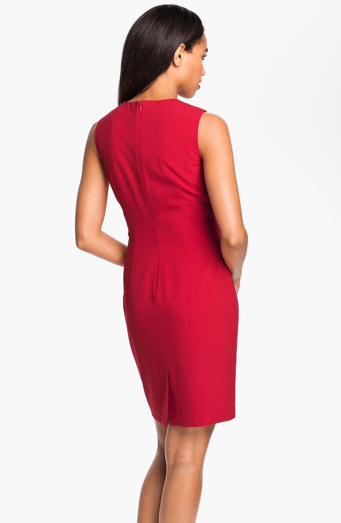 Alternate Image 2  - Calvin Klein Sleeveless Pintuck Dress