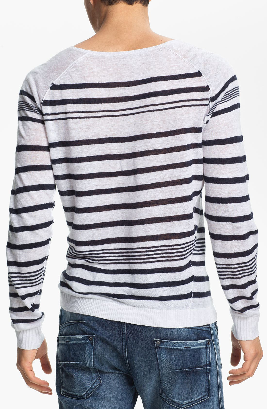Alternate Image 2  - DIESEL® 'K-Lolli' Stripe Linen Sweater