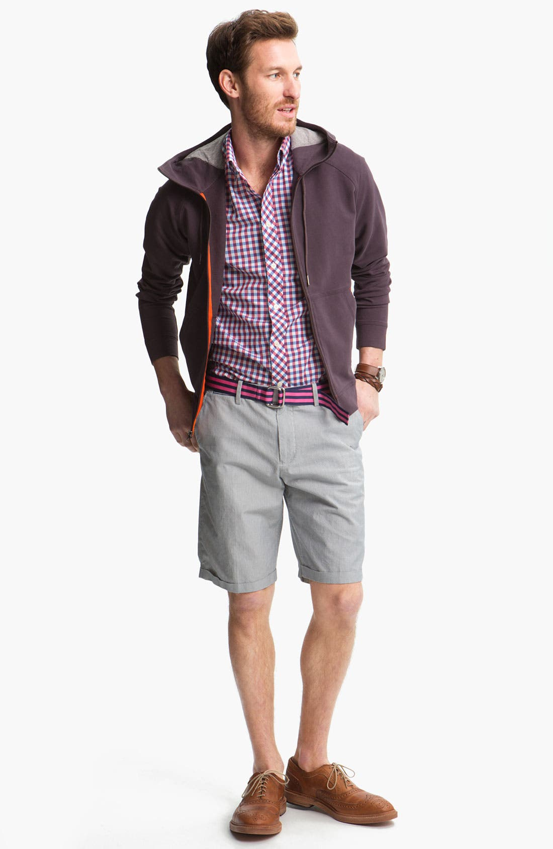 Alternate Image 2  - Fred Perry Flat Front Shorts