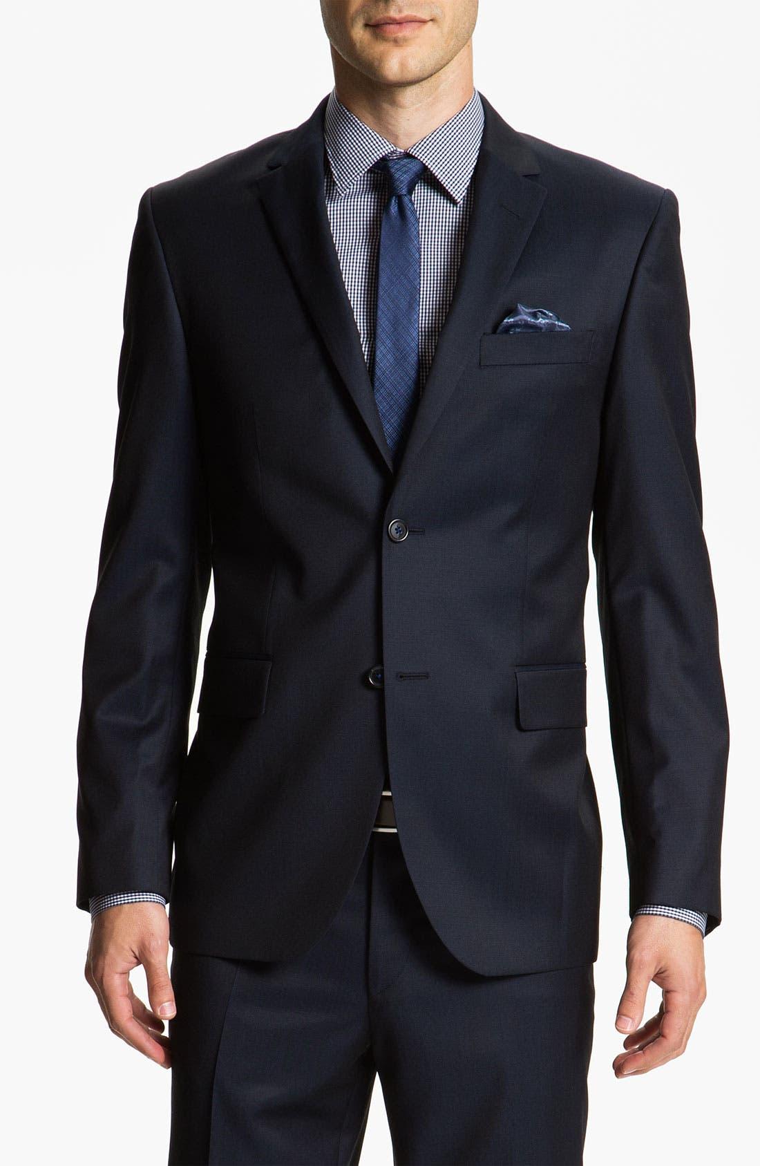 Main Image - Sand Trim Fit Wool Suit