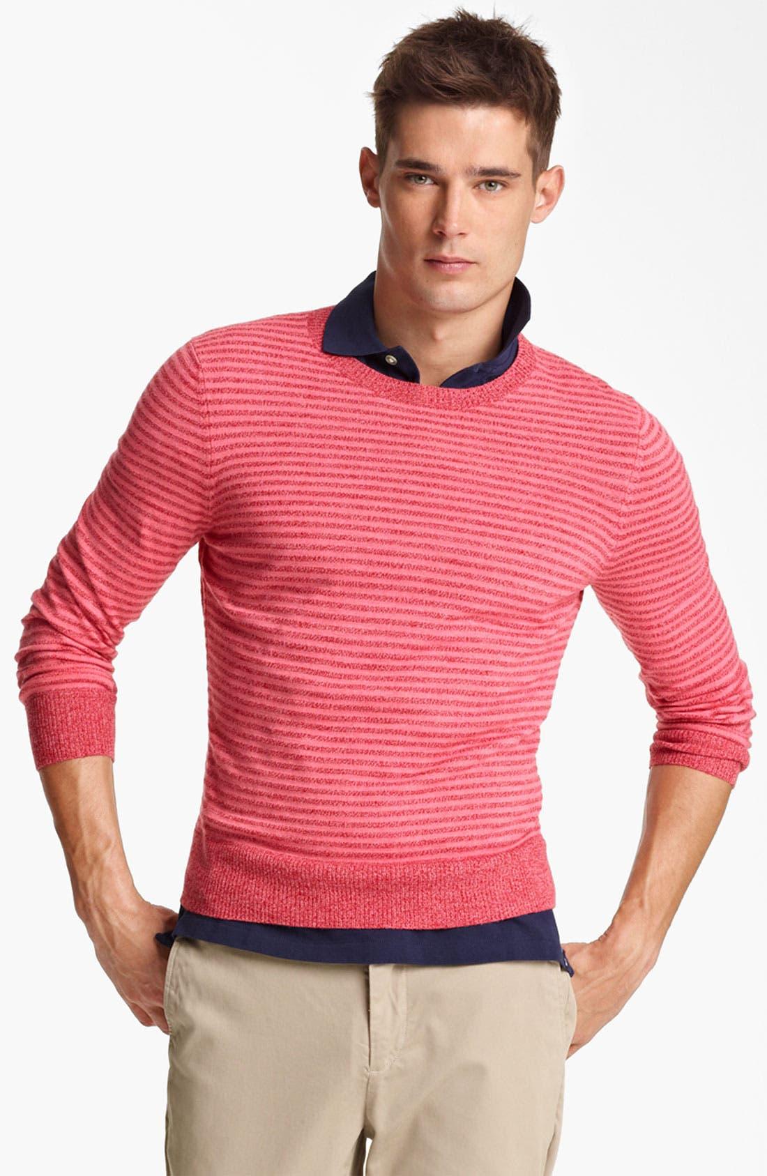 Main Image - Jack Spade 'Judson' Stripe Merino Wool Crewneck Sweater