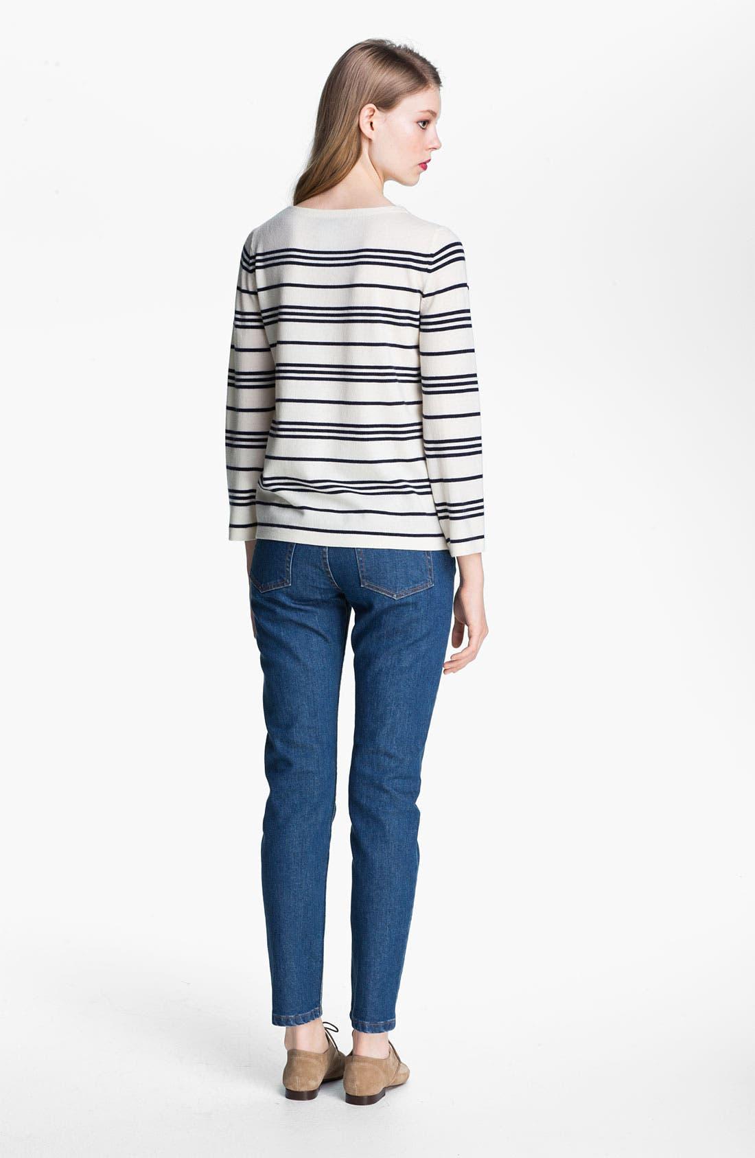 Alternate Image 3  - A.P.C. Marinière Stripe Wool Sweater