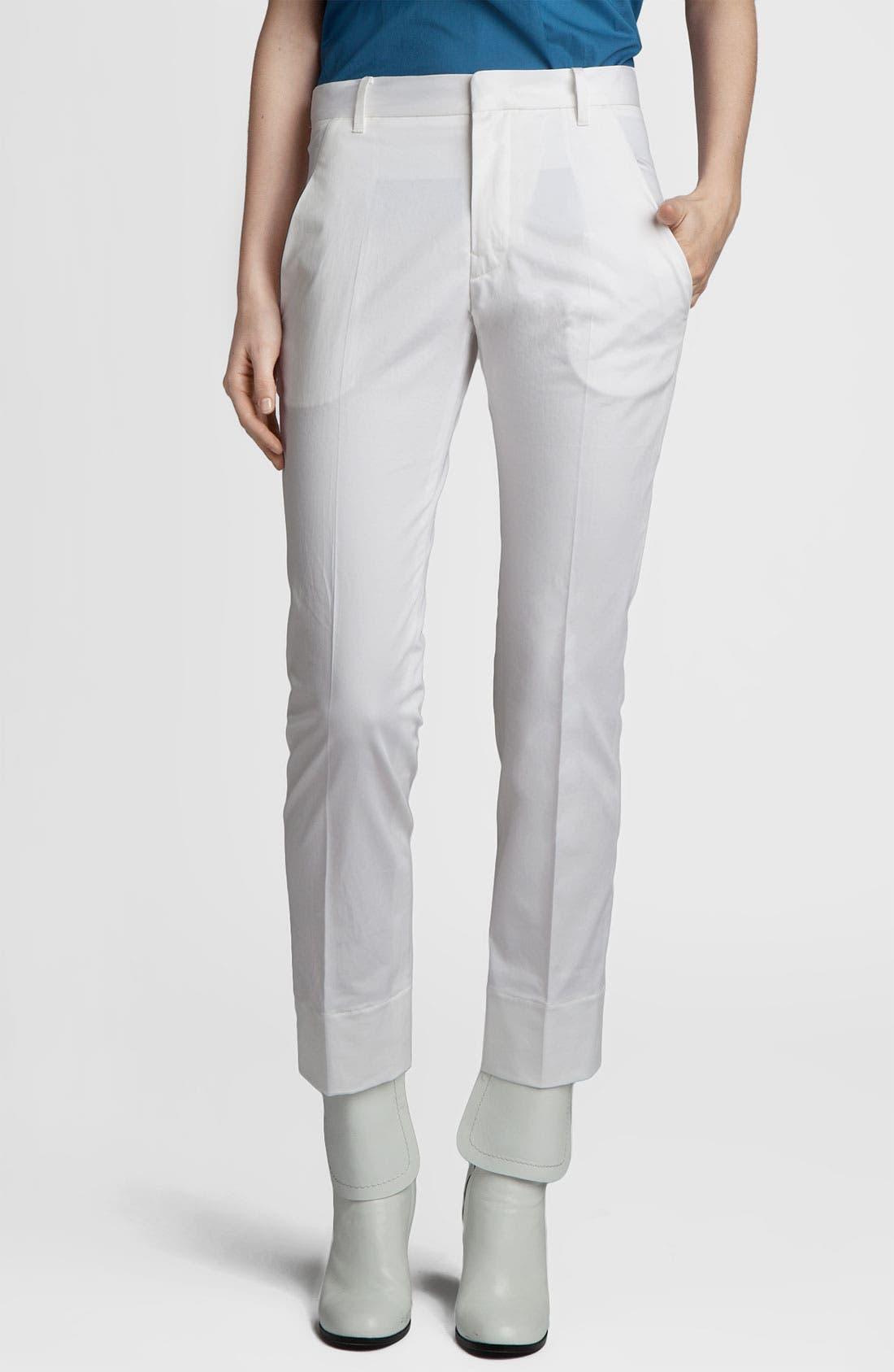 Alternate Image 1 Selected - Jil Sander 'Niccolo' Slim Stretch Cotton Pants