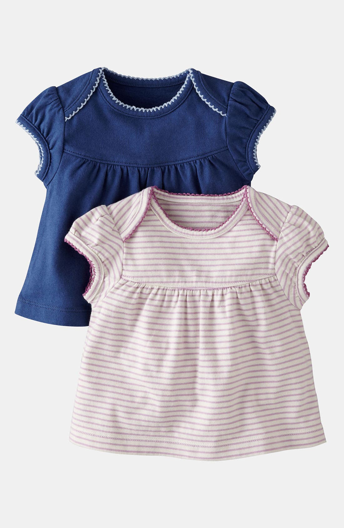 Alternate Image 1 Selected - Mini Boden 'Pretty' Tee (2-Pack) (Baby)