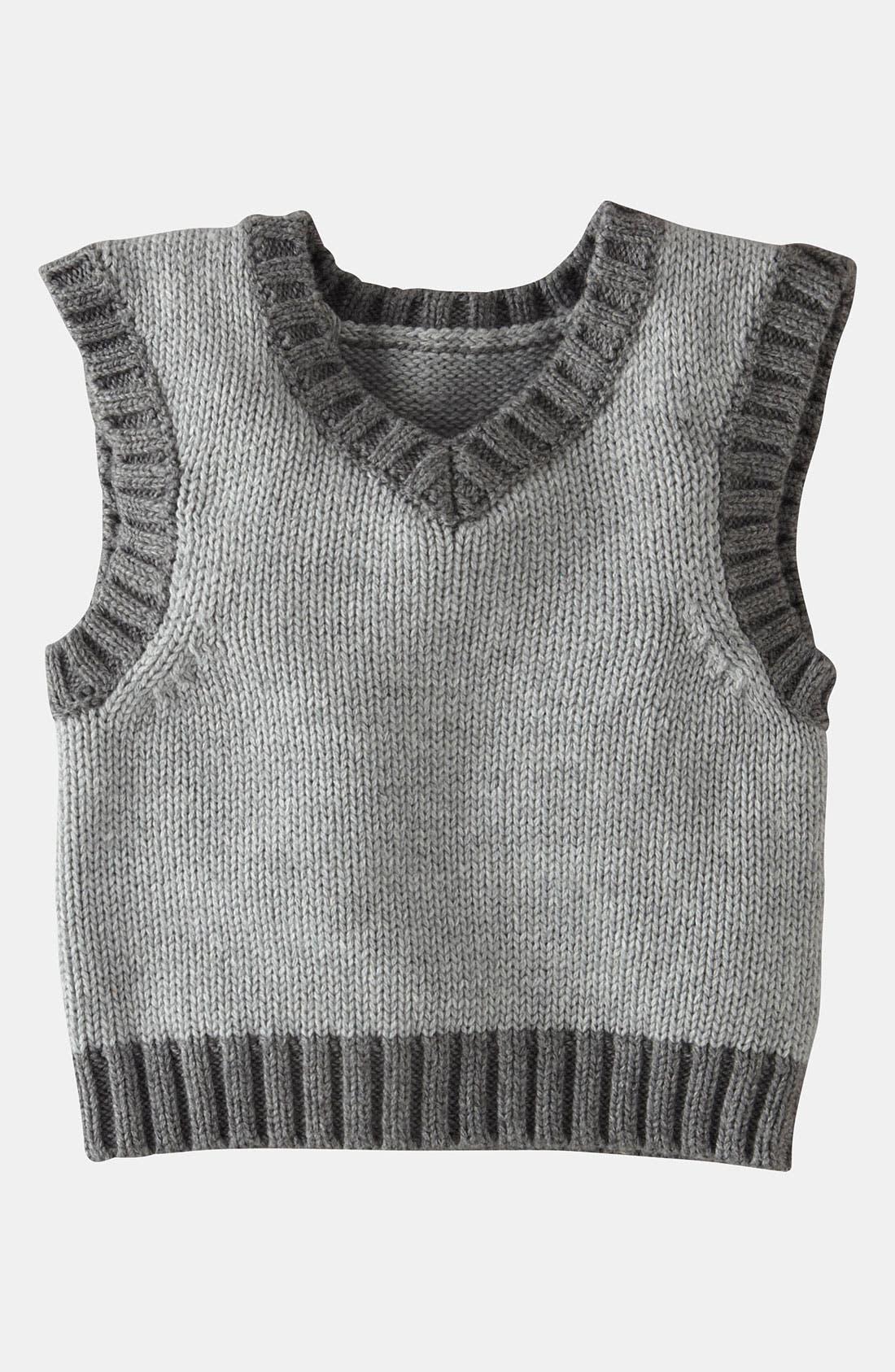 Alternate Image 1 Selected - Mini Boden Knit Vest (Baby)