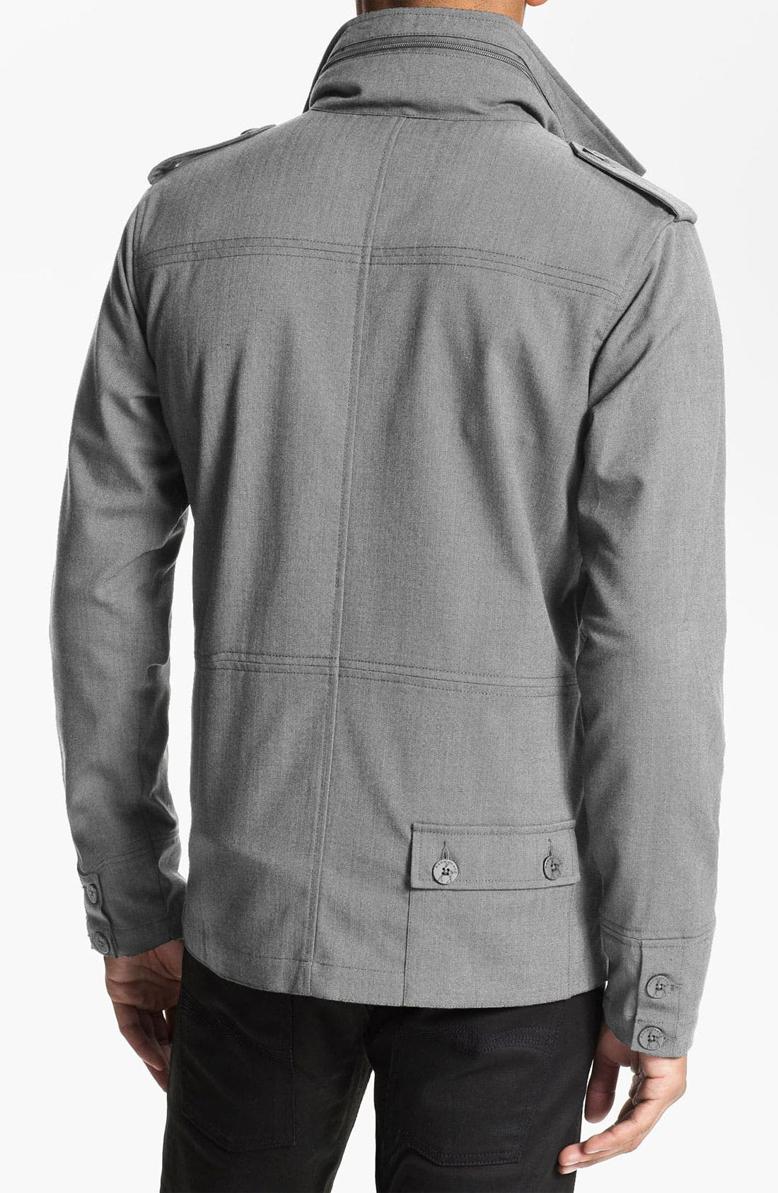 Alternate Image 2  - Kane & Unke Herringbone Trim Fit Military Jacket