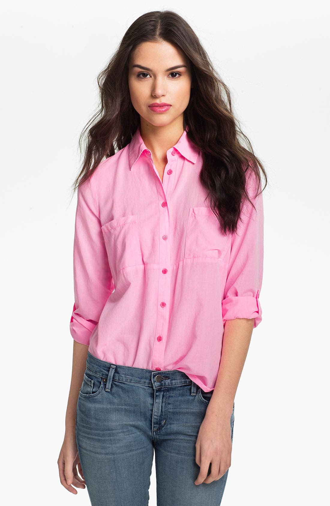 Alternate Image 1 Selected - Splendid Vintage Wash Pocket Shirt