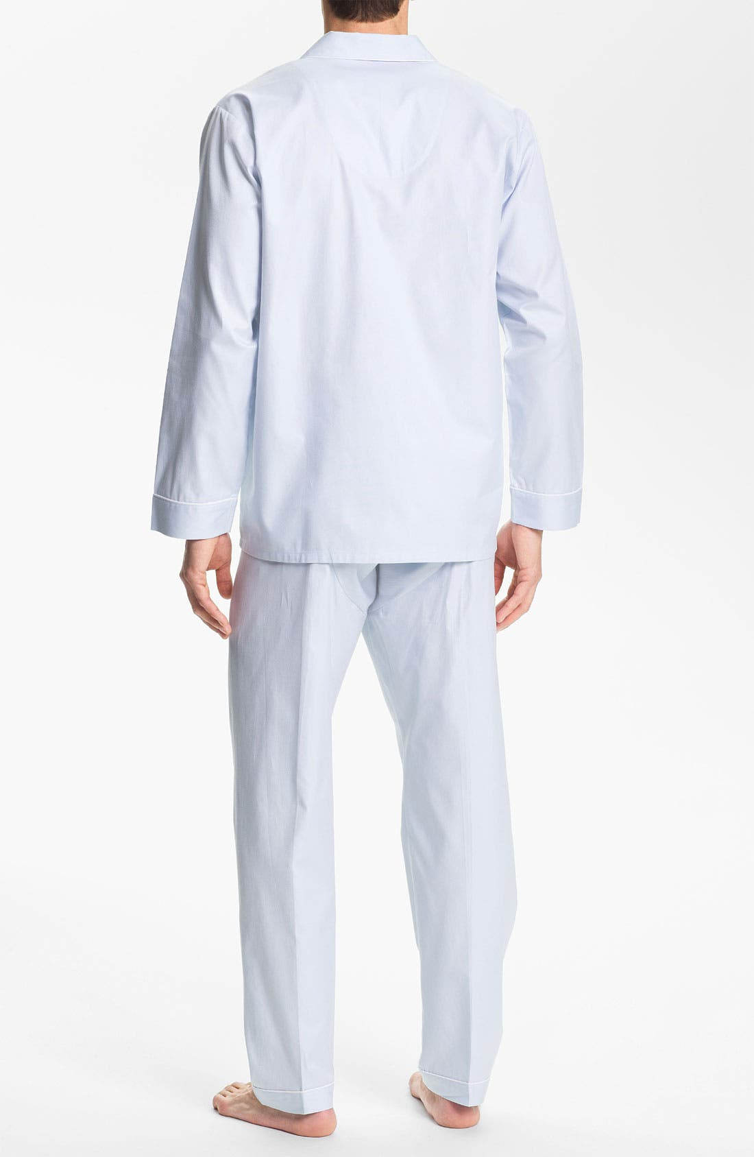 Alternate Image 2  - Majestic International Herringbone Cotton Pajamas
