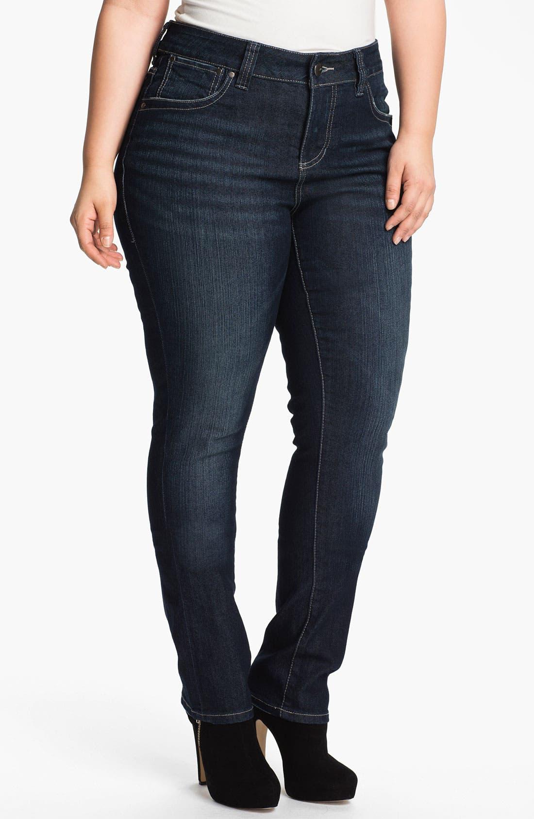 Main Image - Jag Jeans 'Bevin' Slim Stretch Jeans (Plus Size)