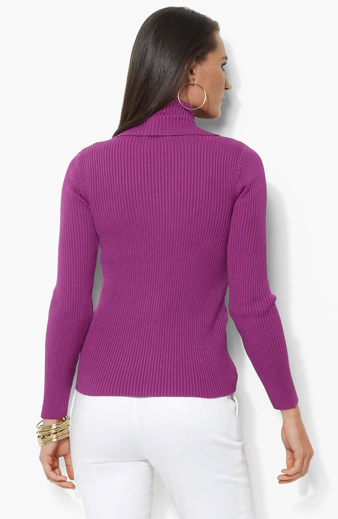 Alternate Image 2  - Lauren by Ralph Lauren Open Front Cardigan