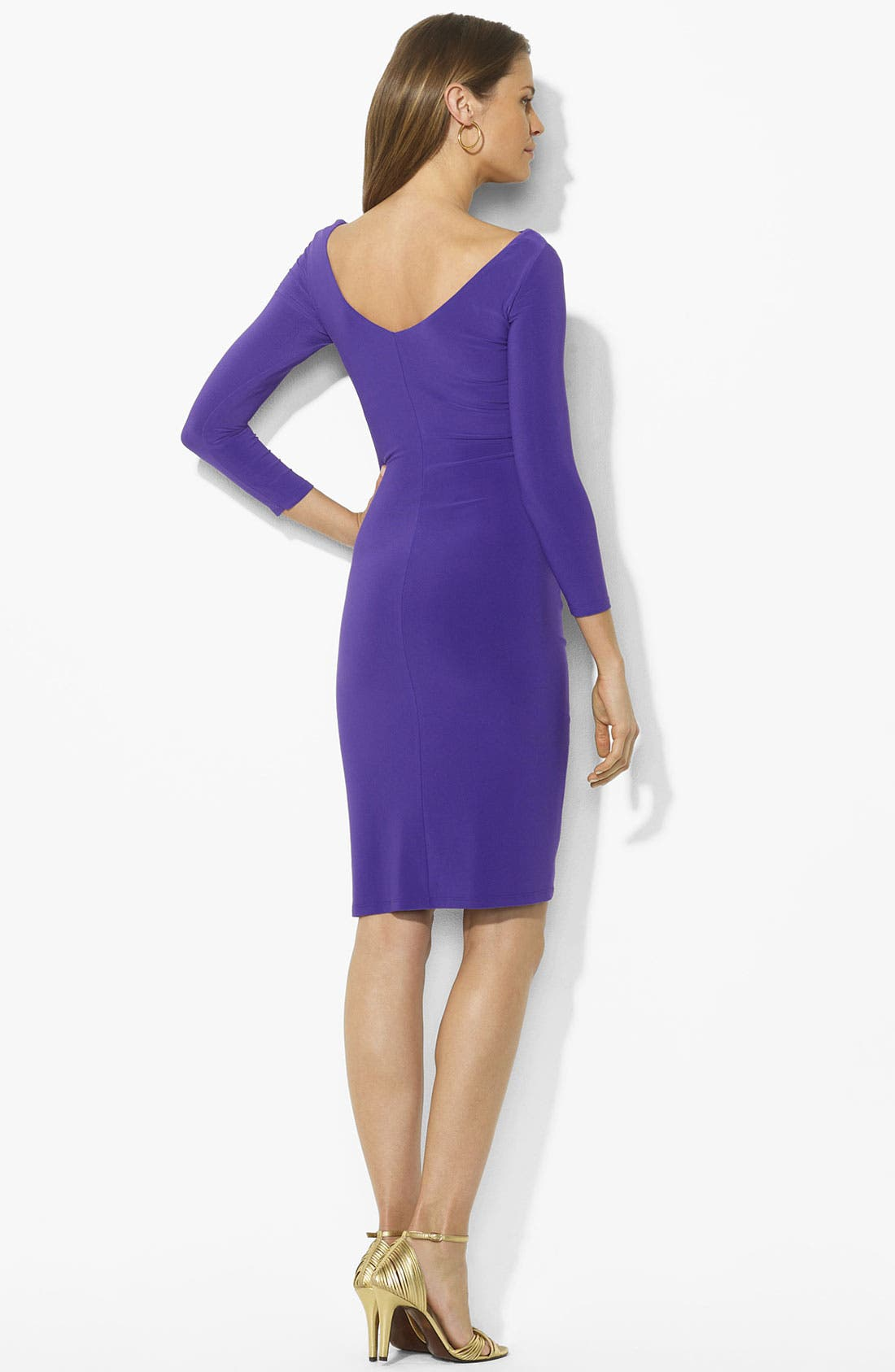 Alternate Image 2  - Lauren Ralph Lauren Twist Front Jersey Sheath Dress