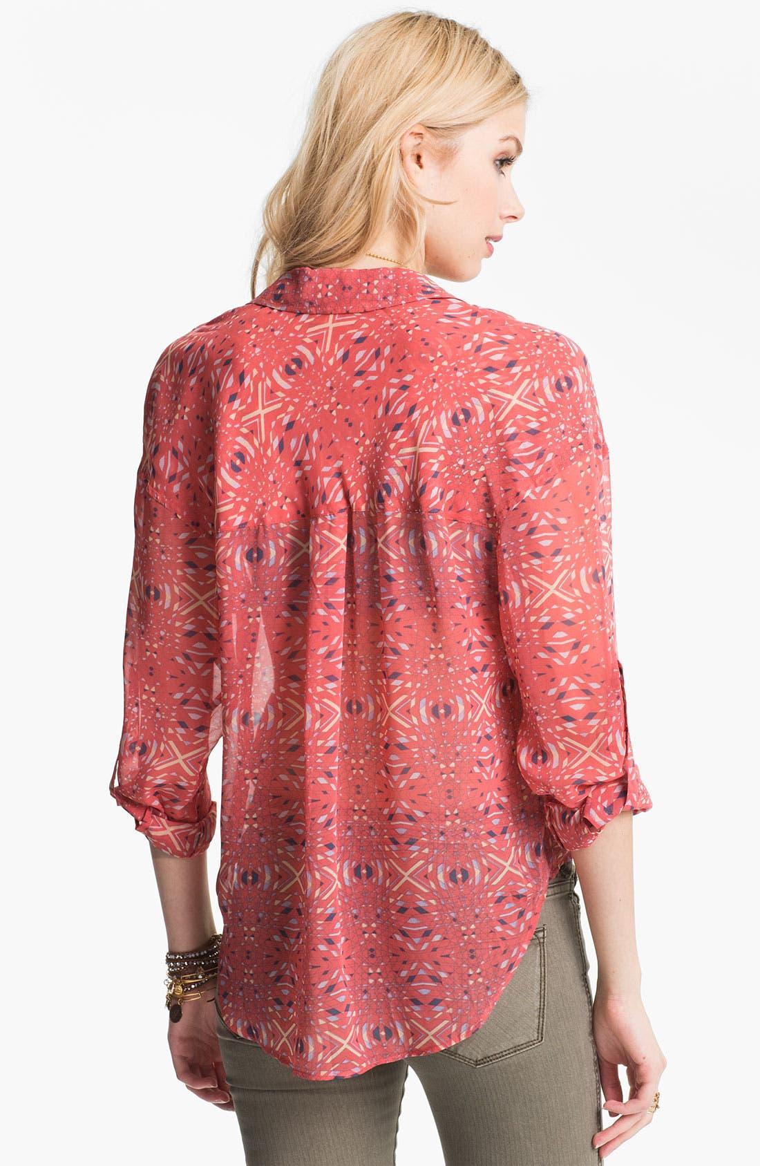 Alternate Image 2  - Free People Kaleidoscope Print Chiffon Shirt