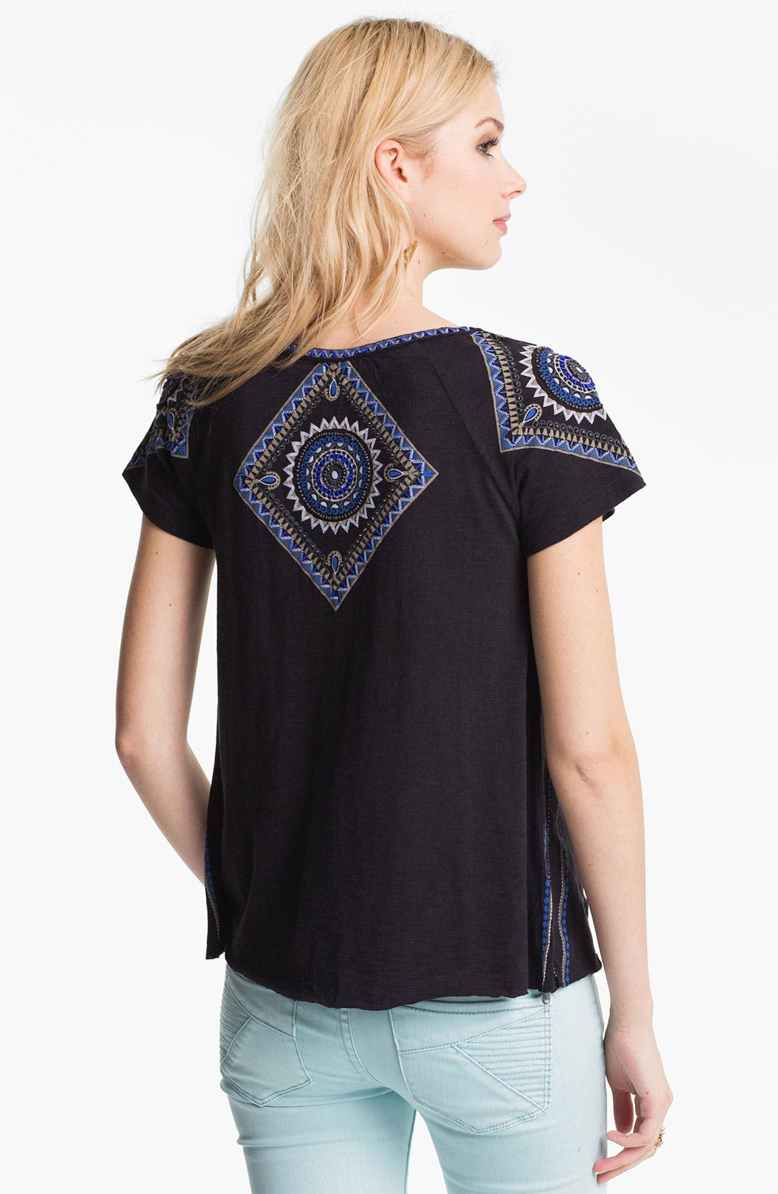 Alternate Image 2  - Free People 'Boho Meadow' Embellished Peasant Tee