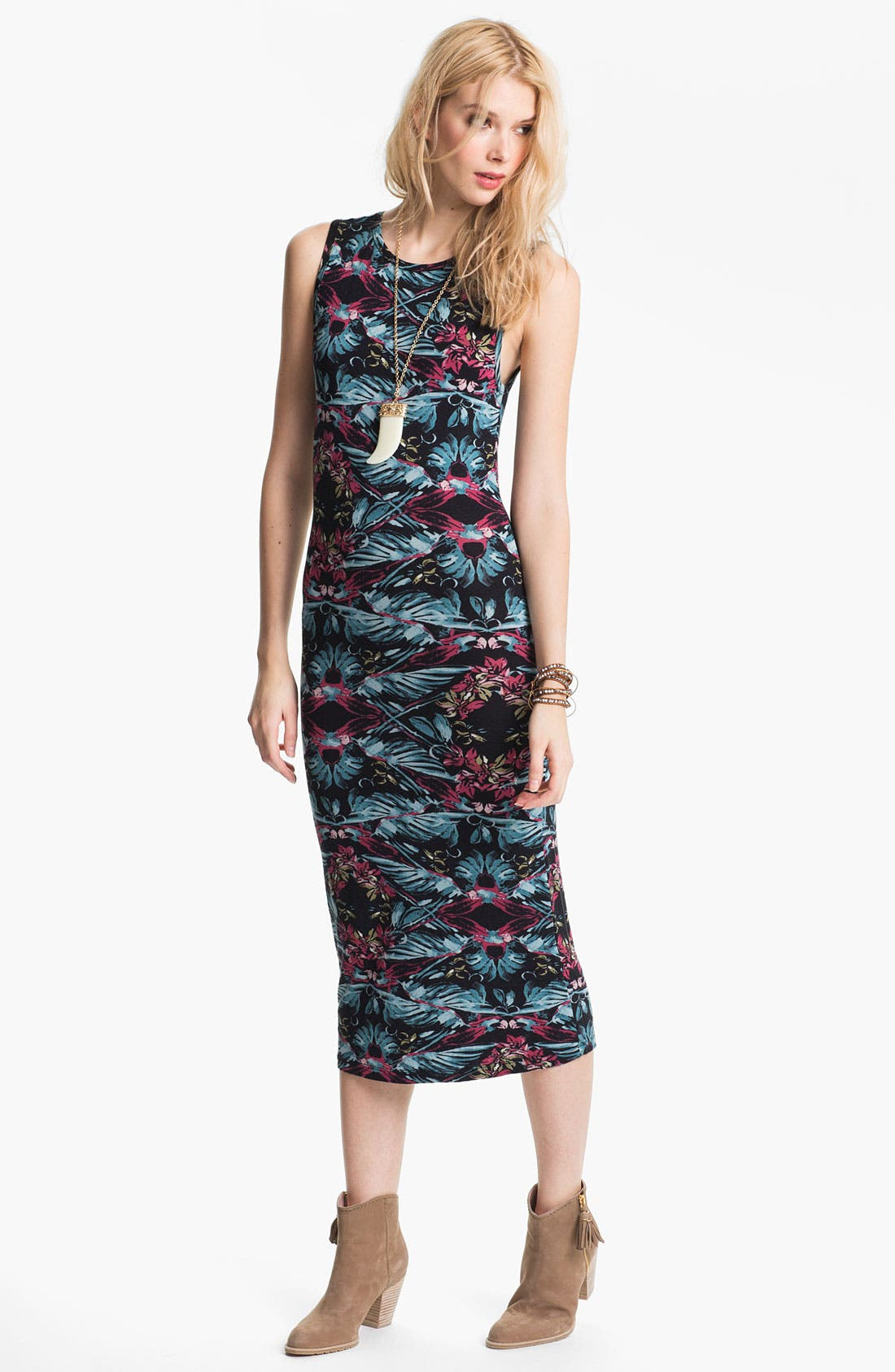 Alternate Image 1 Selected - Free People 'Love From London' Print Midi Tank Dress