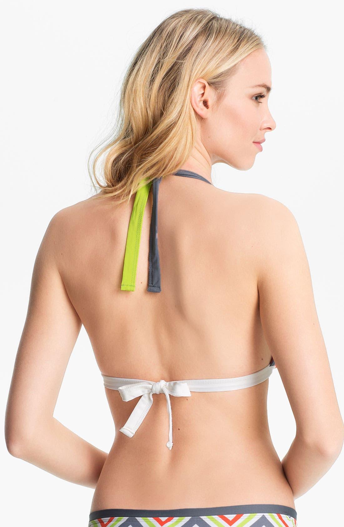 Alternate Image 3  - BCA Colorblock Halter Bikini Top