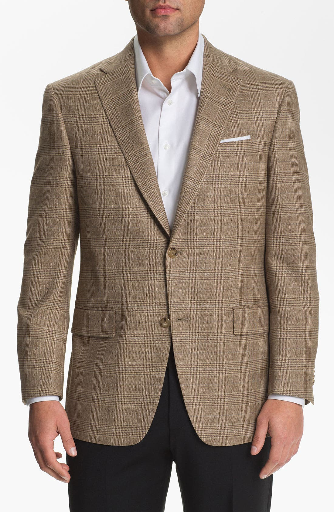 Alternate Image 1 Selected - Hart Schaffner Marx Plaid Sportcoat (Big)