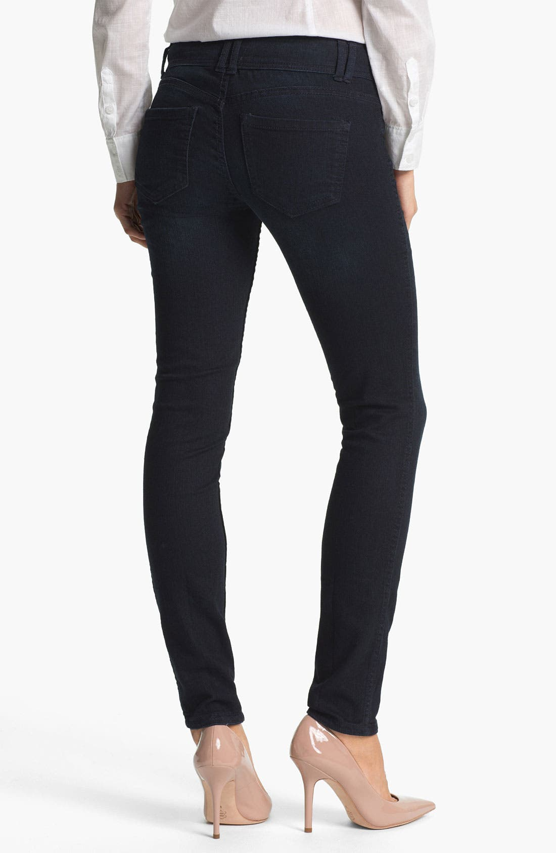 Alternate Image 6  - Wit & Wisdom Reversible Dot Print Skinny Jeans (Nordstrom Exclusive)