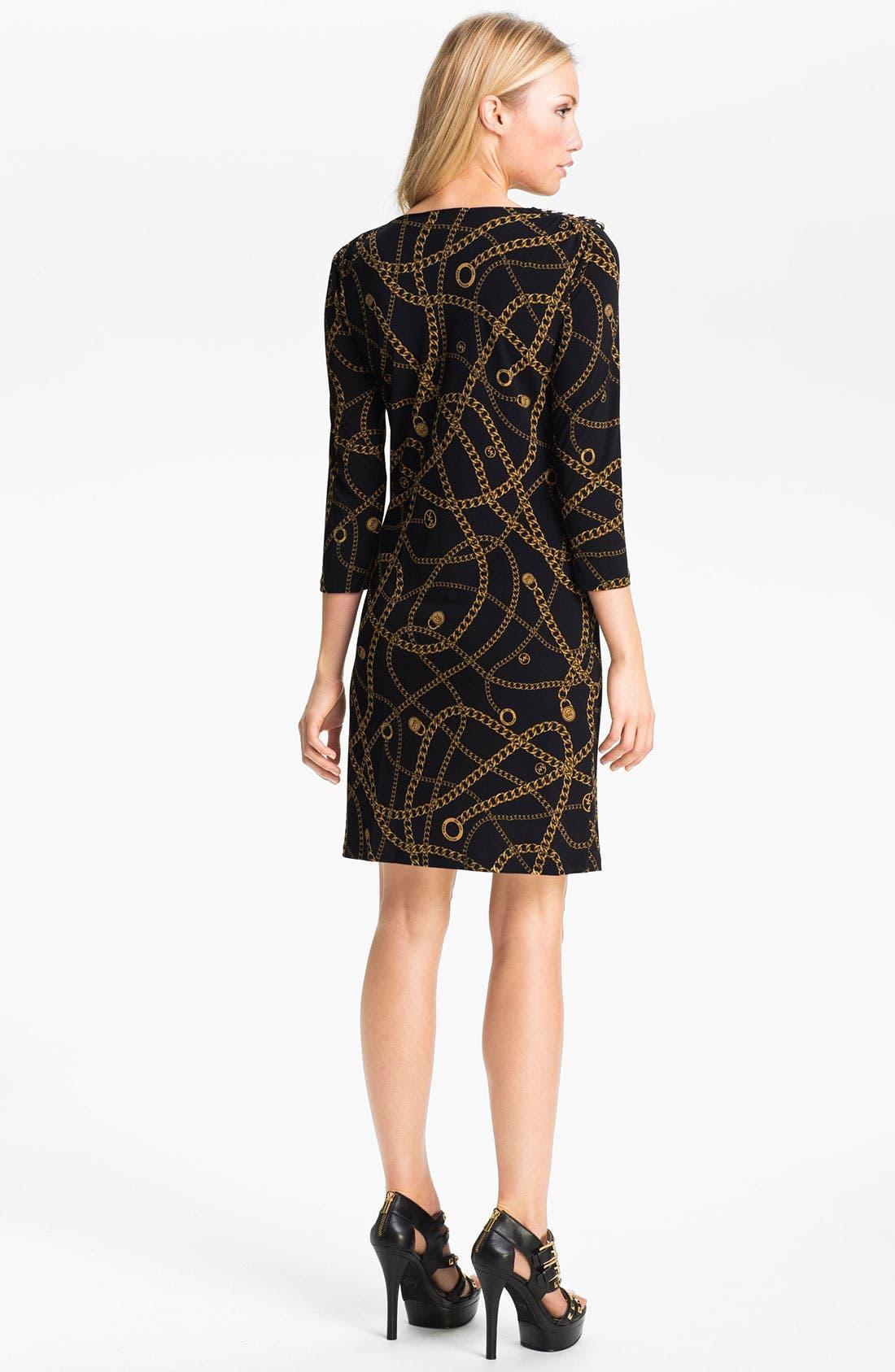 Alternate Image 2  - MICHAEL Michael Kors 'Hamilton' Chain Print Dress (Petite)