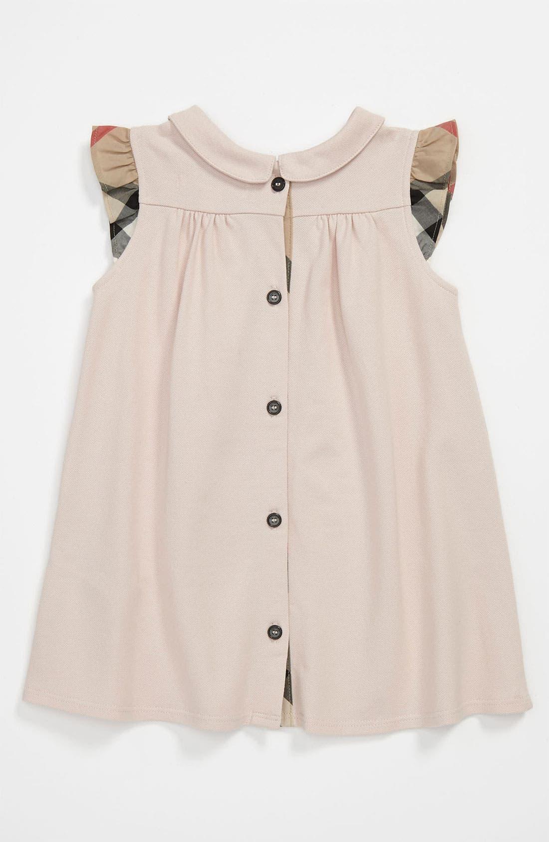 Alternate Image 2  - Burberry 'Perez' Piqué Polo Dress (Infant)