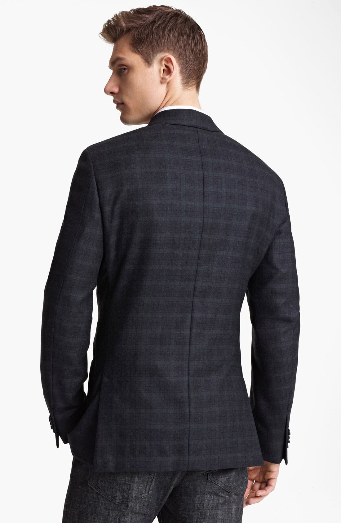 Alternate Image 2  - Z Zegna Trim Fit Check Blazer