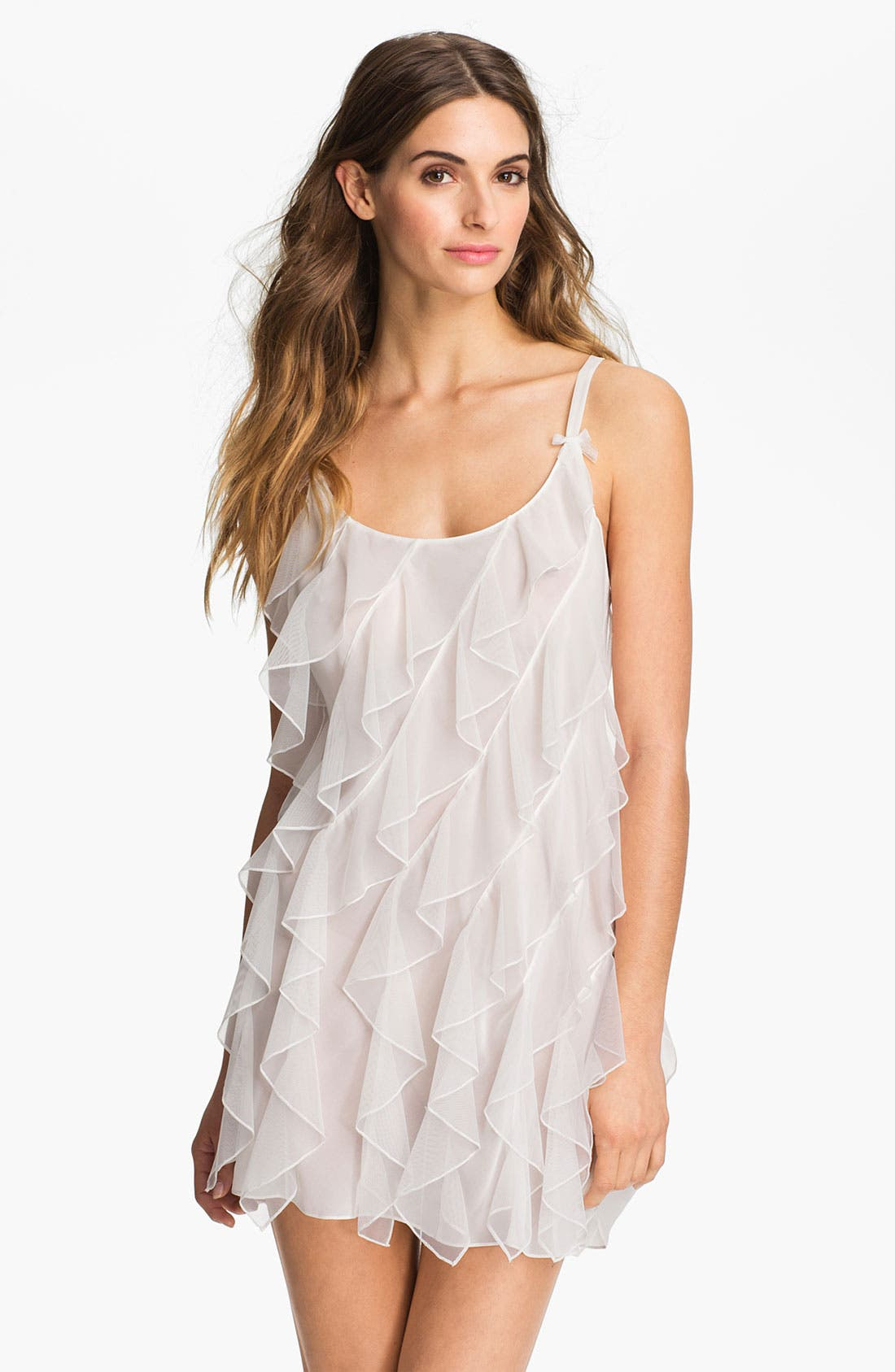 Alternate Image 1 Selected - Oscar de la Renta Sleepwear 'Ruffled Romance' Chemise