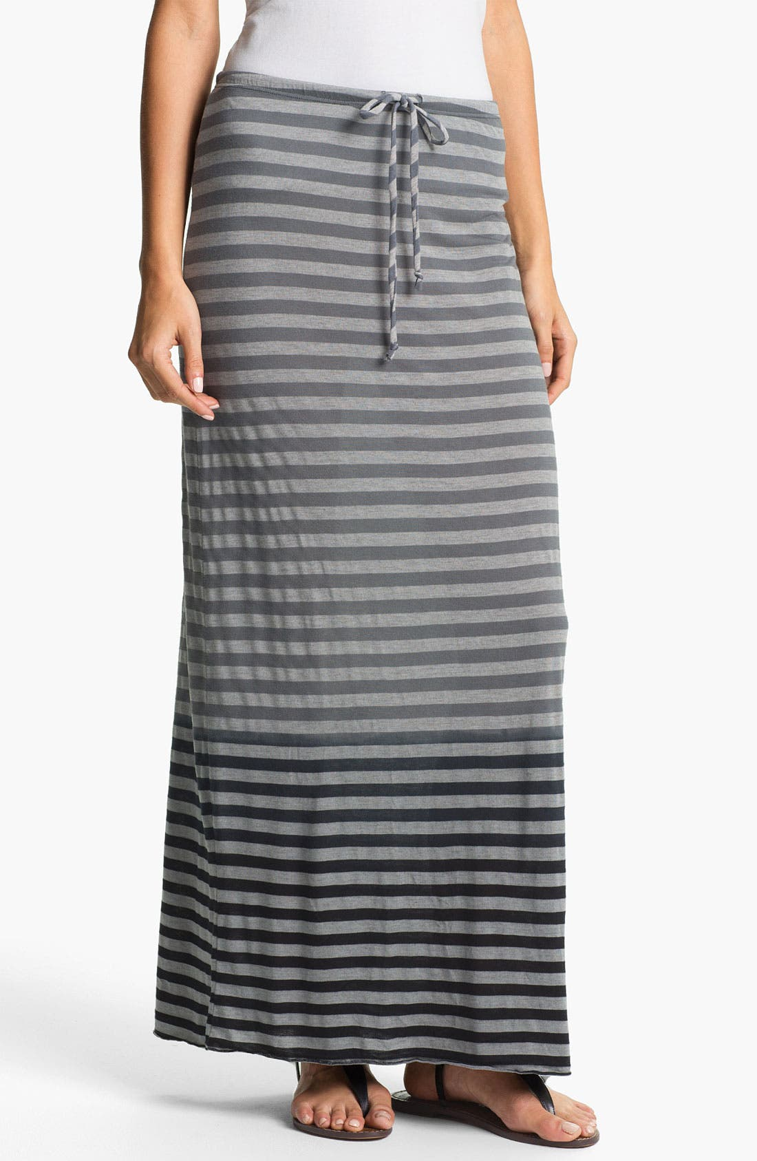 Alternate Image 1 Selected - Allen Allen Ombré Stripe Maxi Skirt