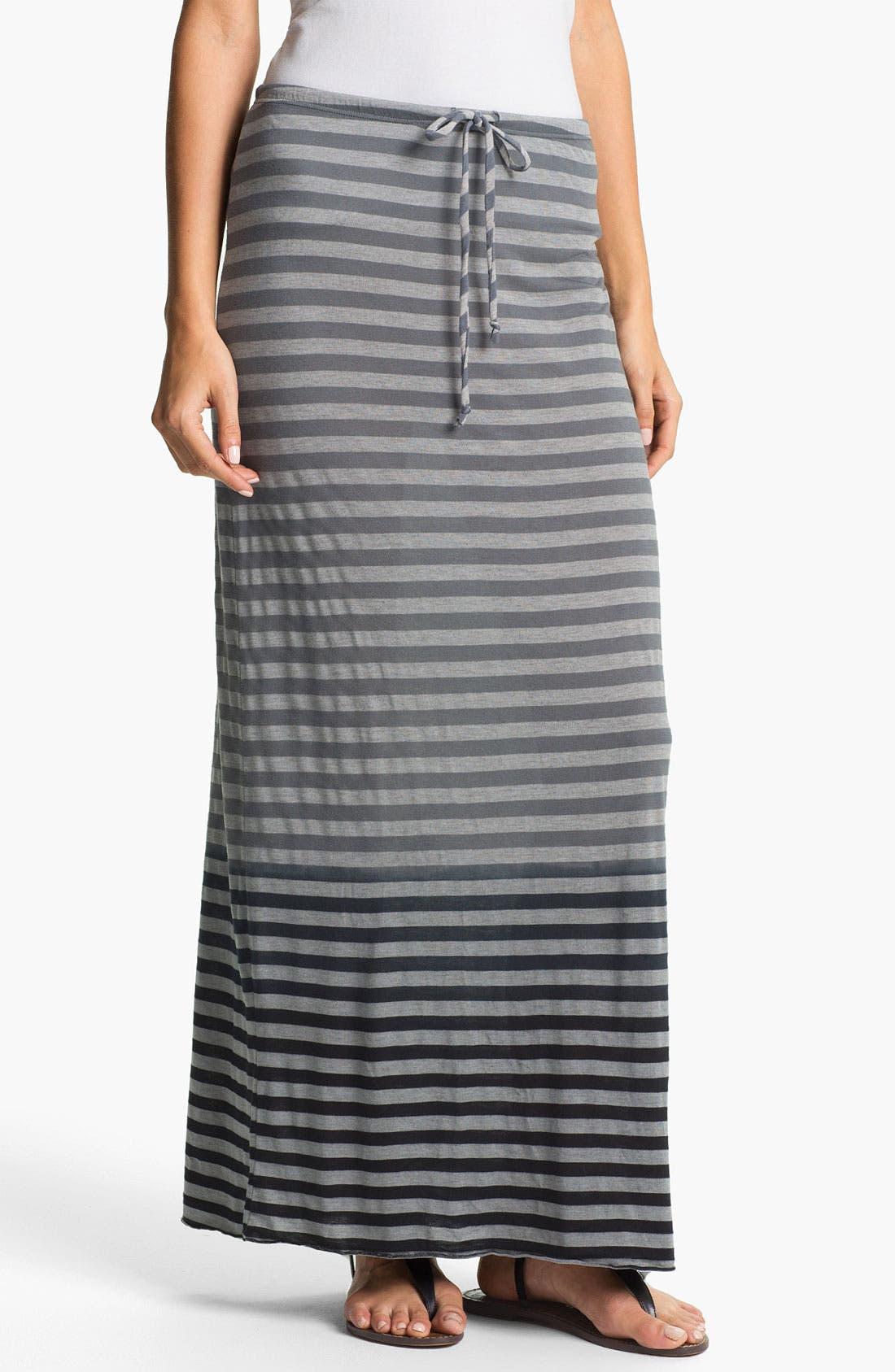Main Image - Allen Allen Ombré Stripe Maxi Skirt
