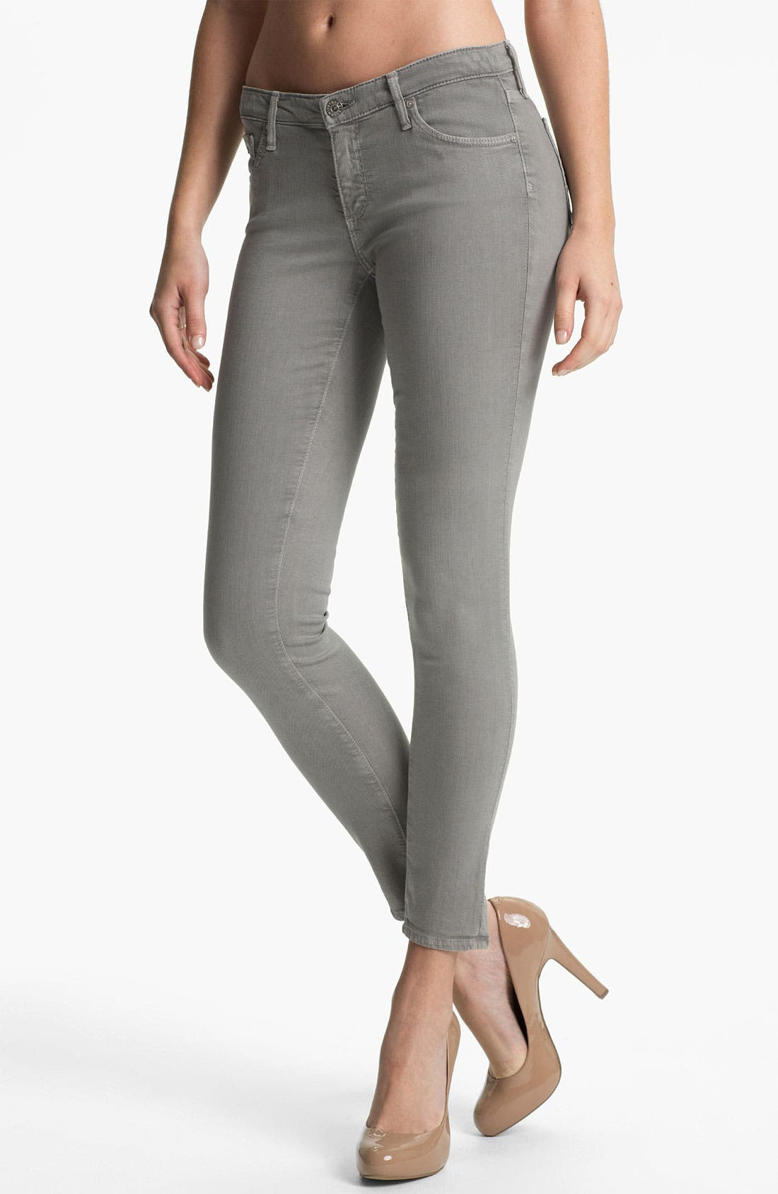 Alternate Image 1 Selected - AG Denim Leggings (Grey)