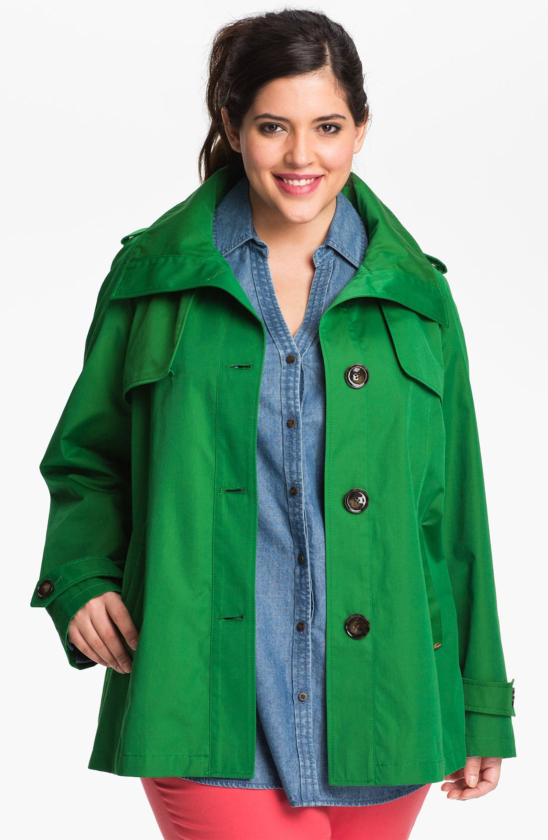 Main Image - Ellen Tracy Double Flange Back Jacket (Plus Size)
