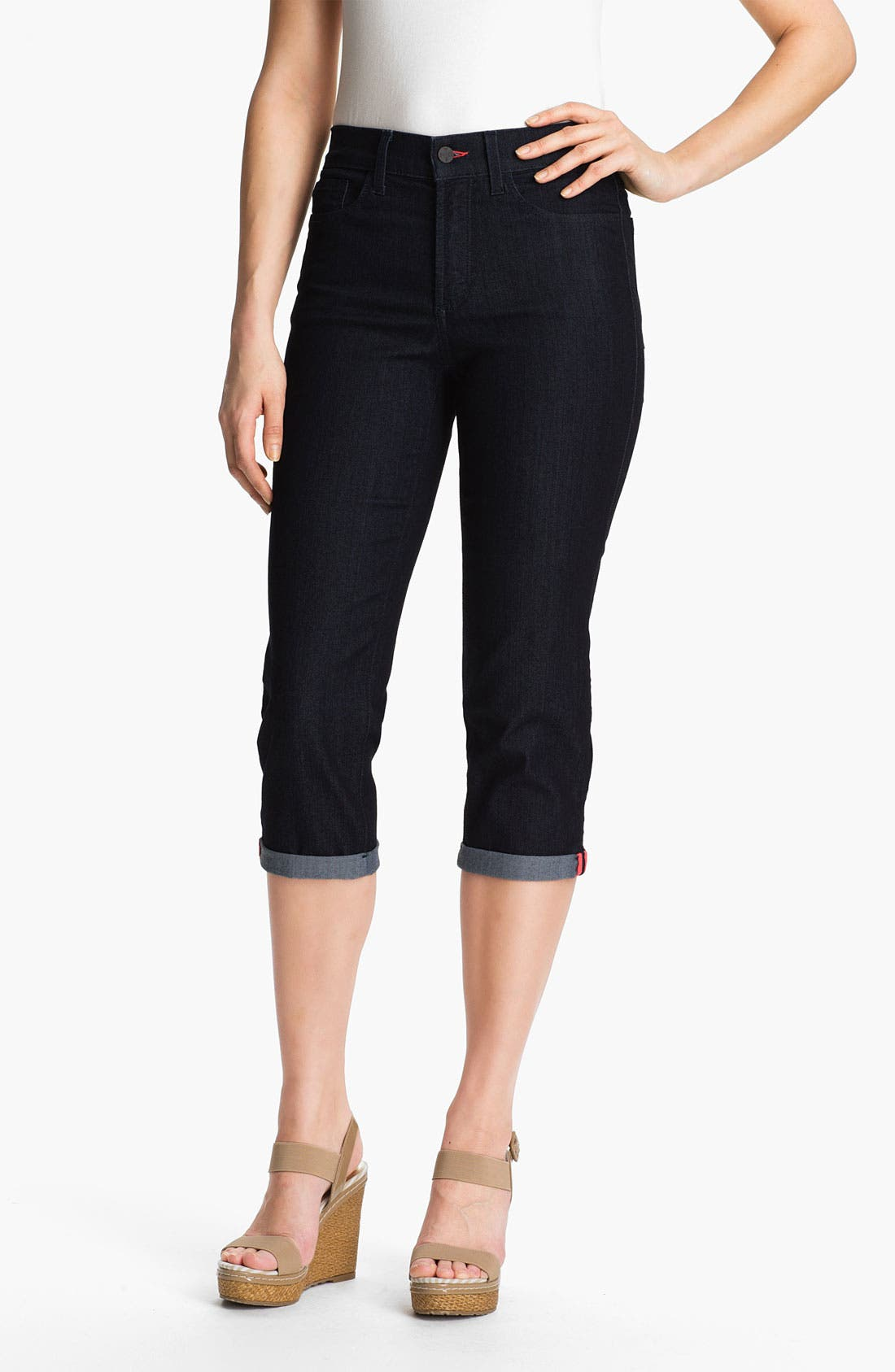 Main Image - NYDJ 'Fiona' Roll Cuff Crop Jeans