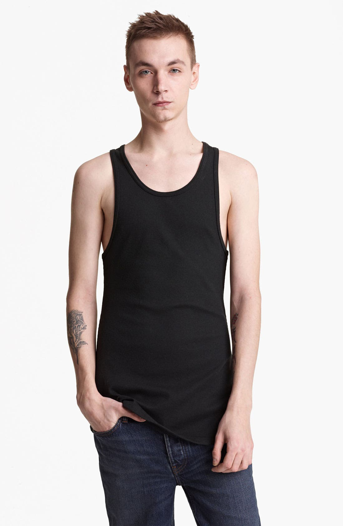 Alternate Image 1 Selected - BLK DNM Ribbed Tank Top