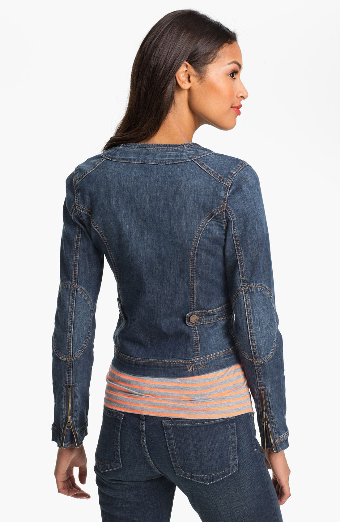 Alternate Image 2  - KUT from the Kloth Collarless Denim Jacket