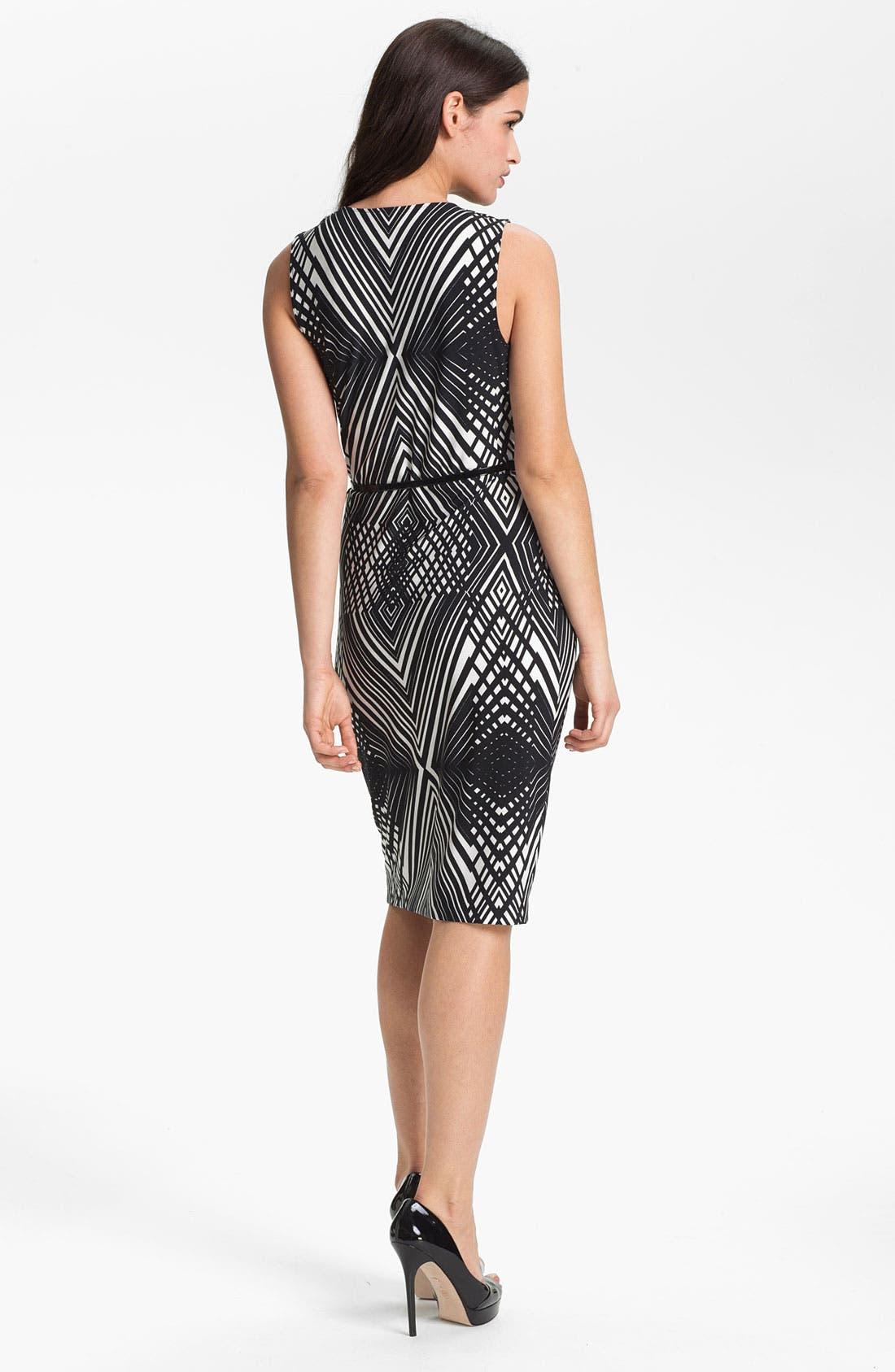 Alternate Image 2  - Anne Klein 'Abstract Line' Cowl Neck Dress
