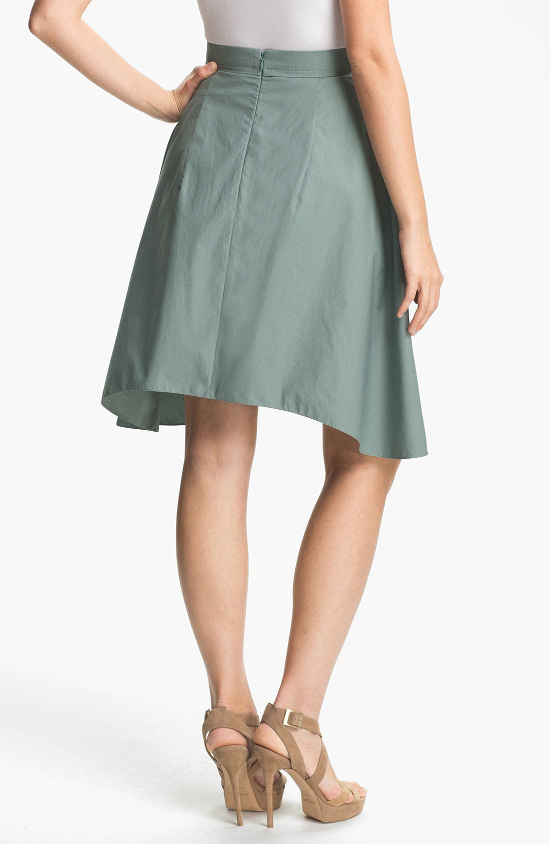 Alternate Image 2  - Carven Asymmetrical Hem Poplin Skirt
