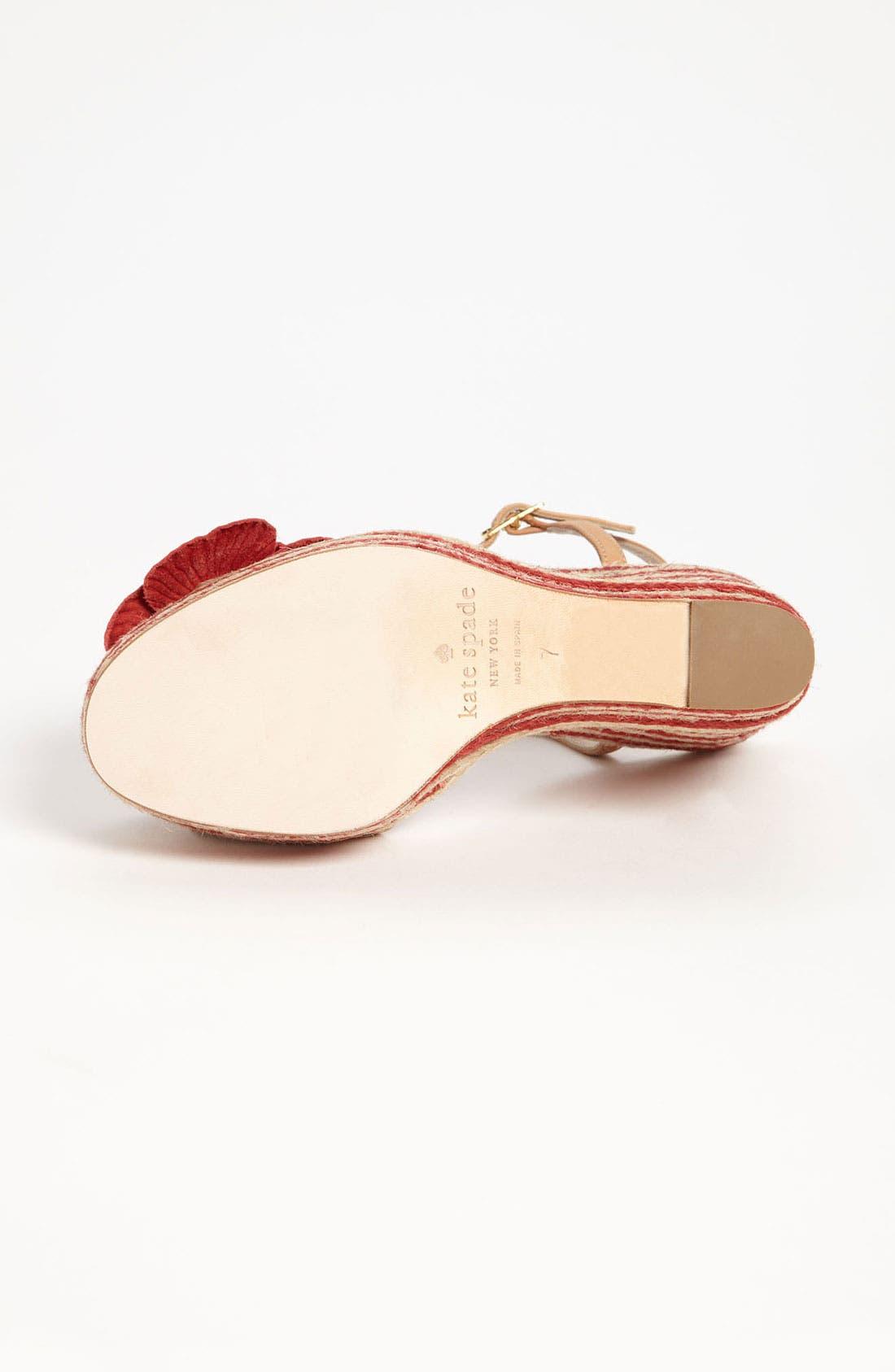 Alternate Image 4  - kate spade new york 'lainey' wedge sandal