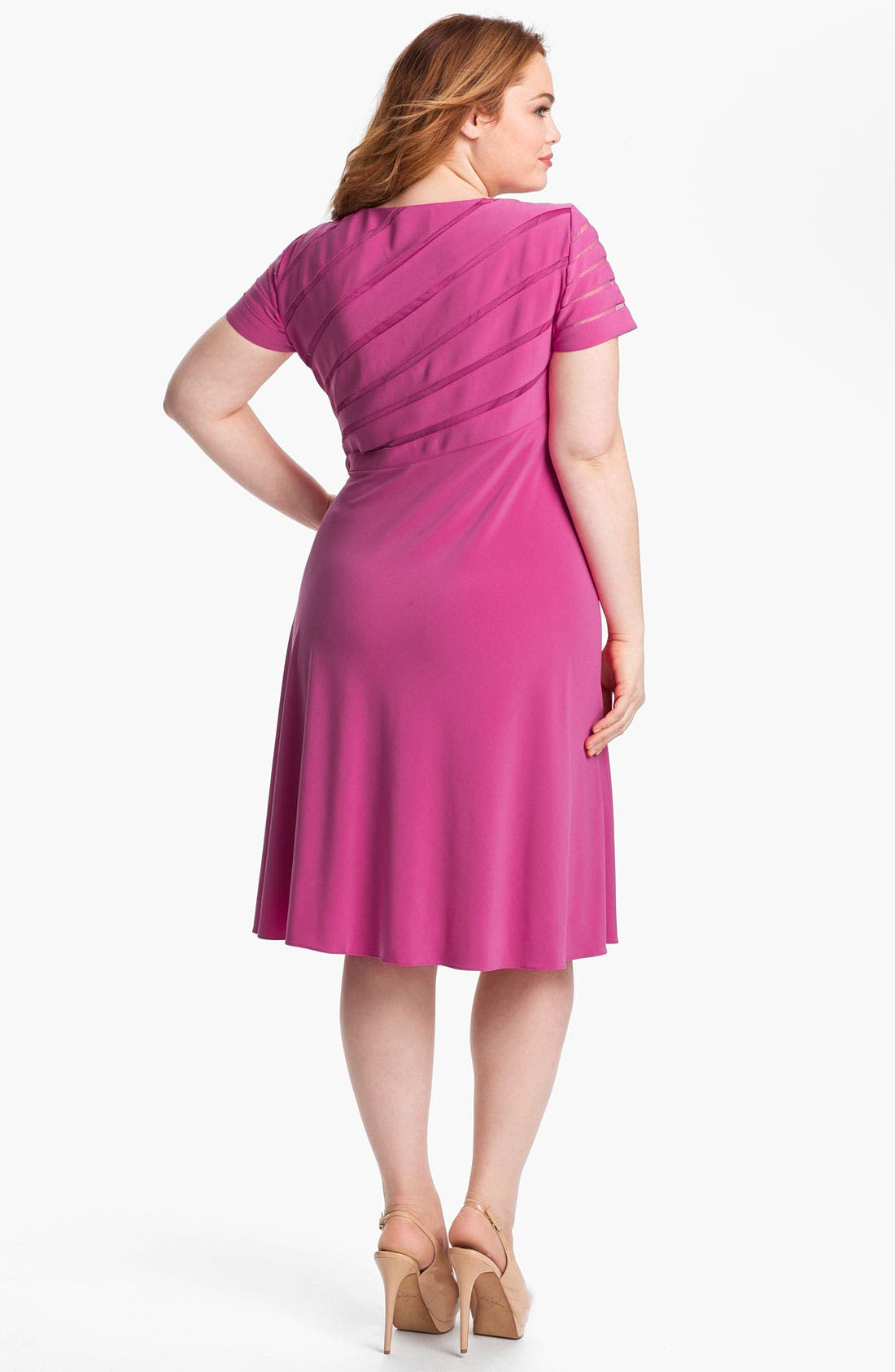 Alternate Image 2  - Adrianna Papell Jersey Fit & Flare Dress (Plus Size)