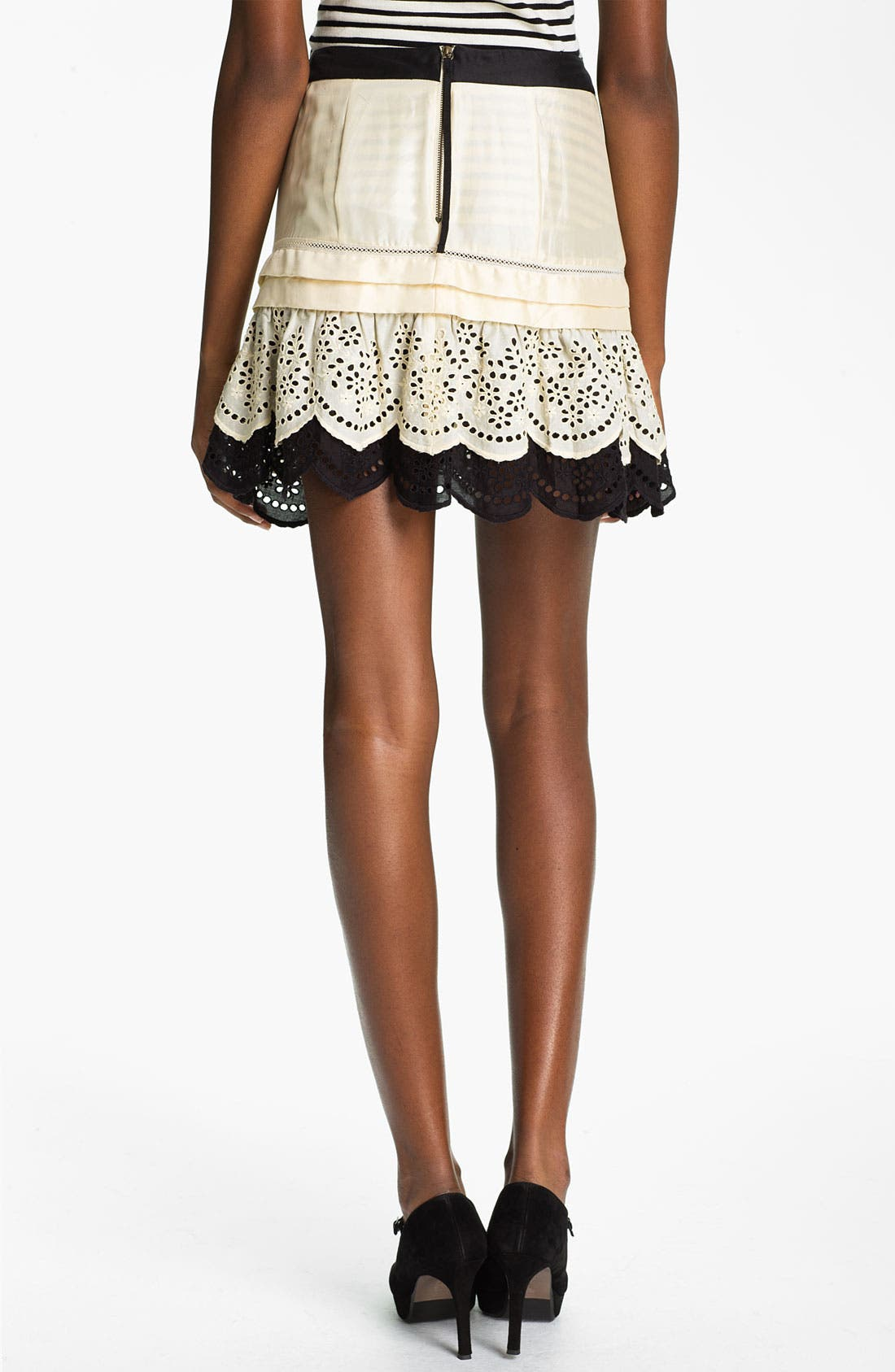 Alternate Image 2  - Skaist-Taylor Eyelet Ruffle Silk Skirt