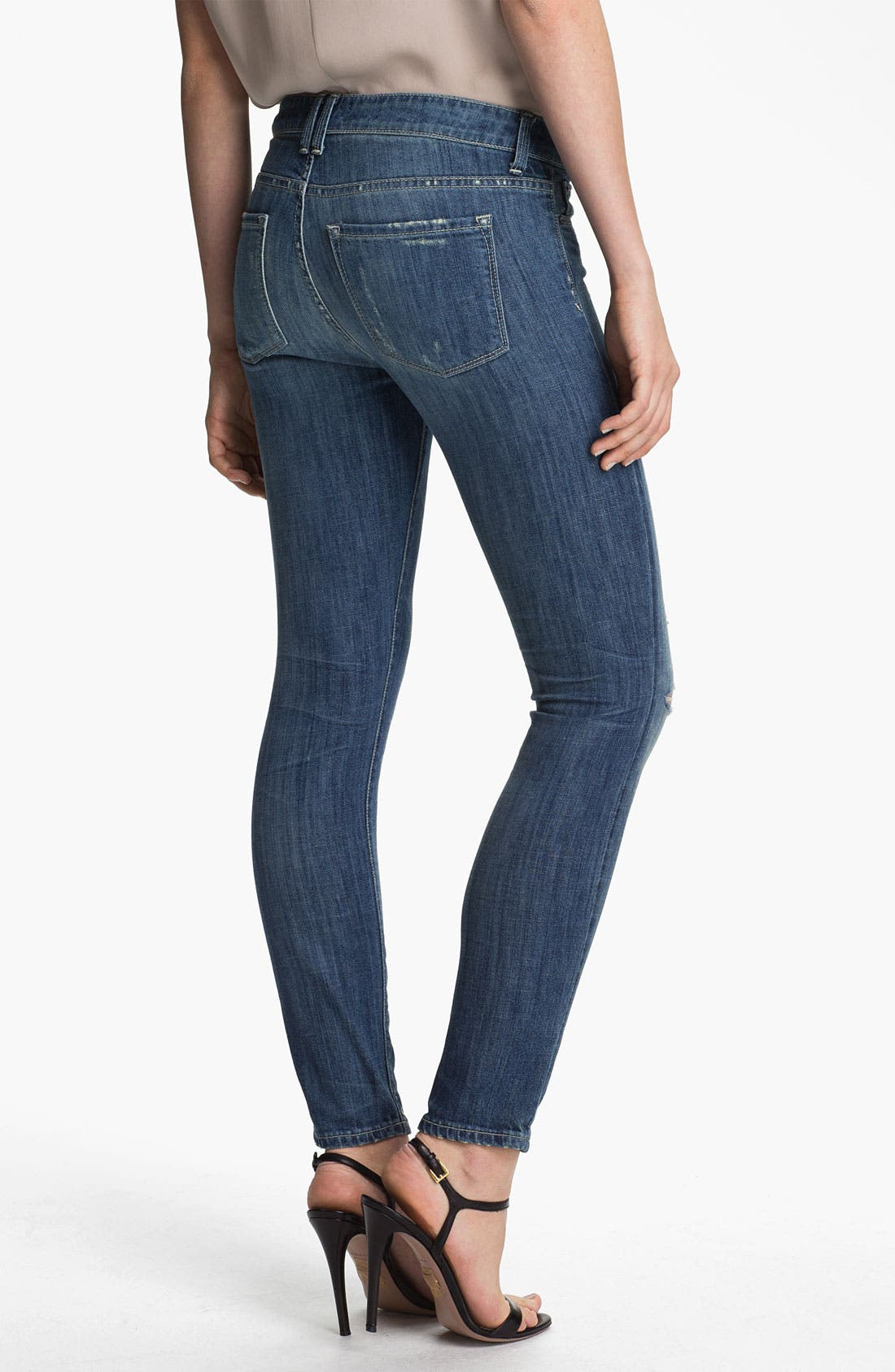 Alternate Image 2  - Vince Skinny Stretch Ankle Jeans (Light Stone)