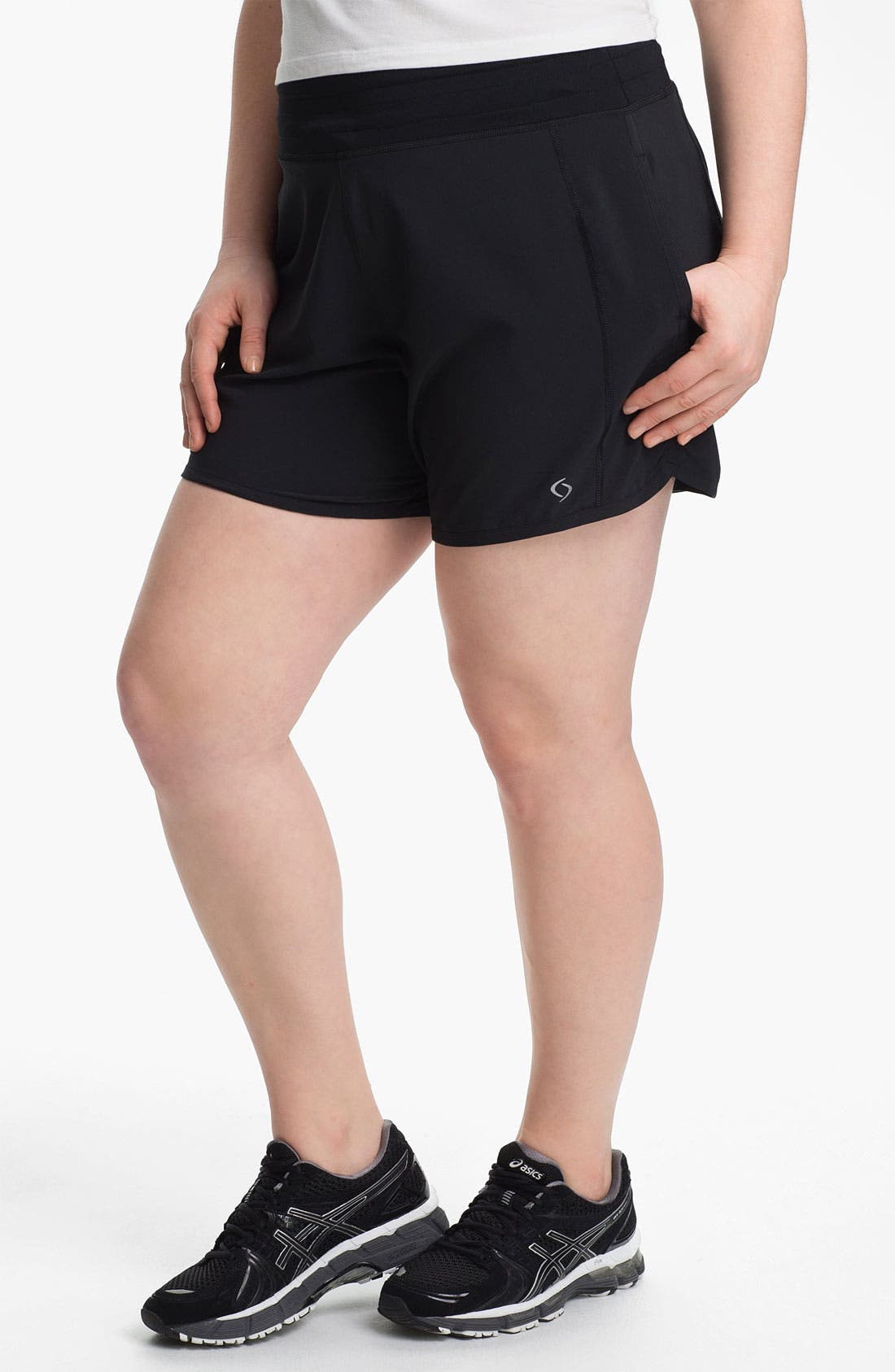 Alternate Image 1 Selected - Moving Comfort 'Work It' Shorts (Plus Size)
