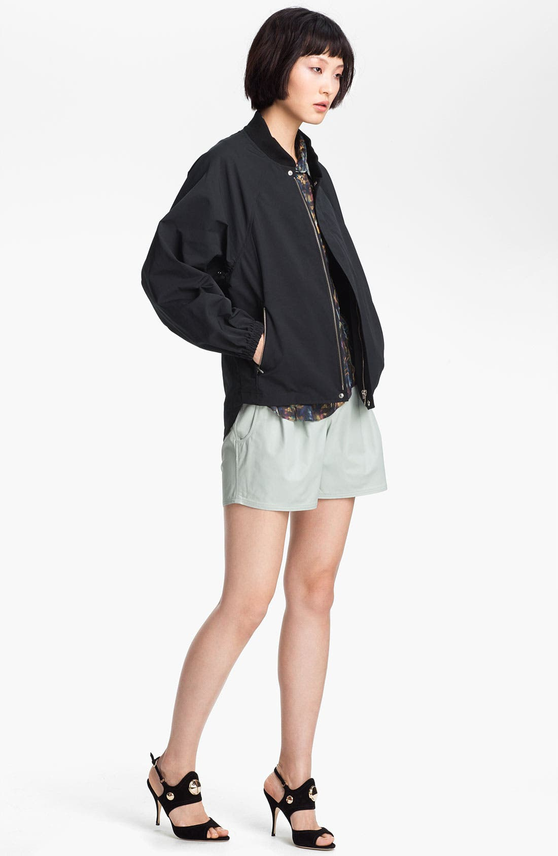 Alternate Image 3  - Theyskens' Theory 'Panther Nexcel' Leather Shorts