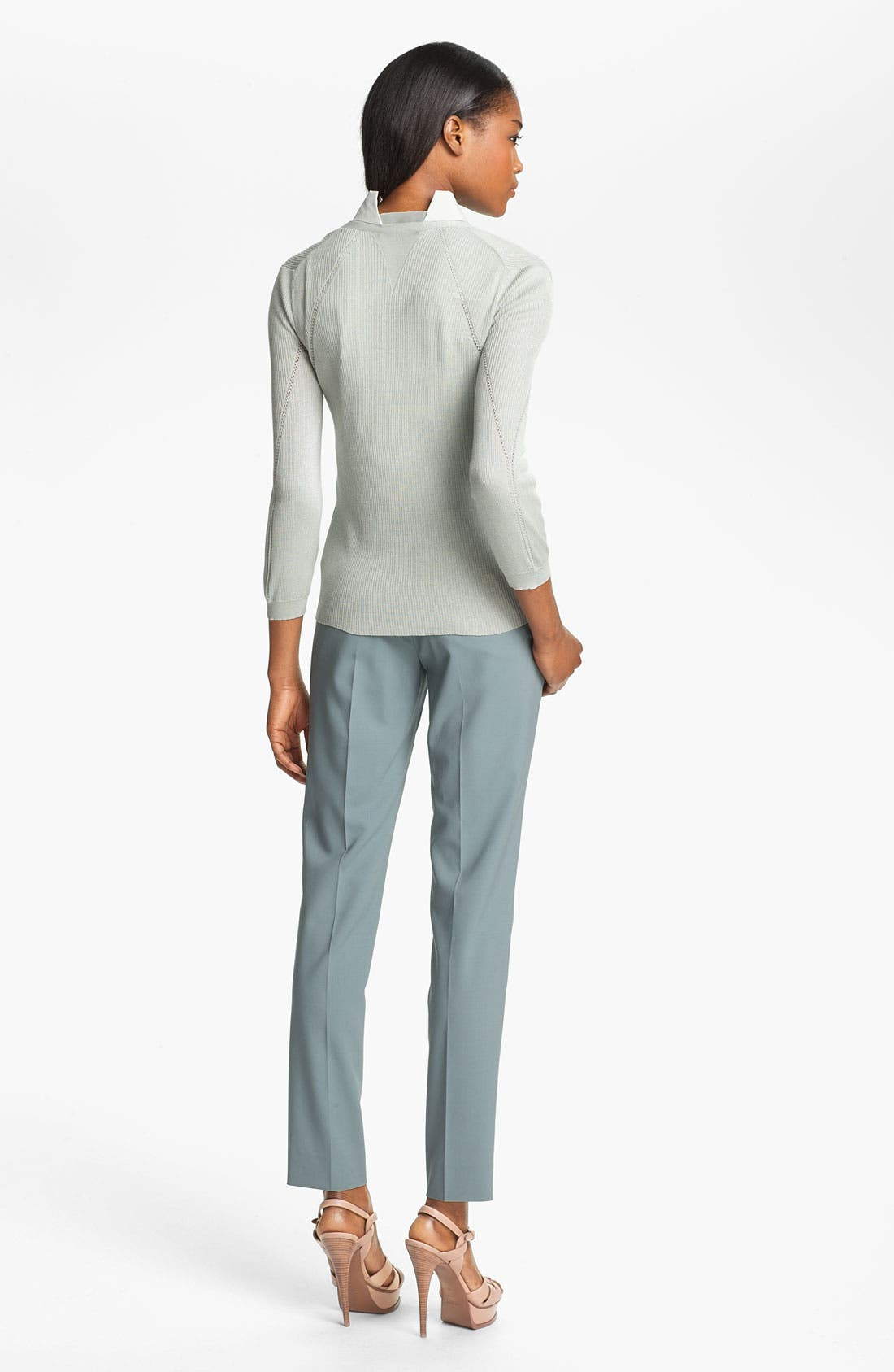 Alternate Image 4  - Theyskens' Theory 'Kizem Yan' Silk Knit Cardigan